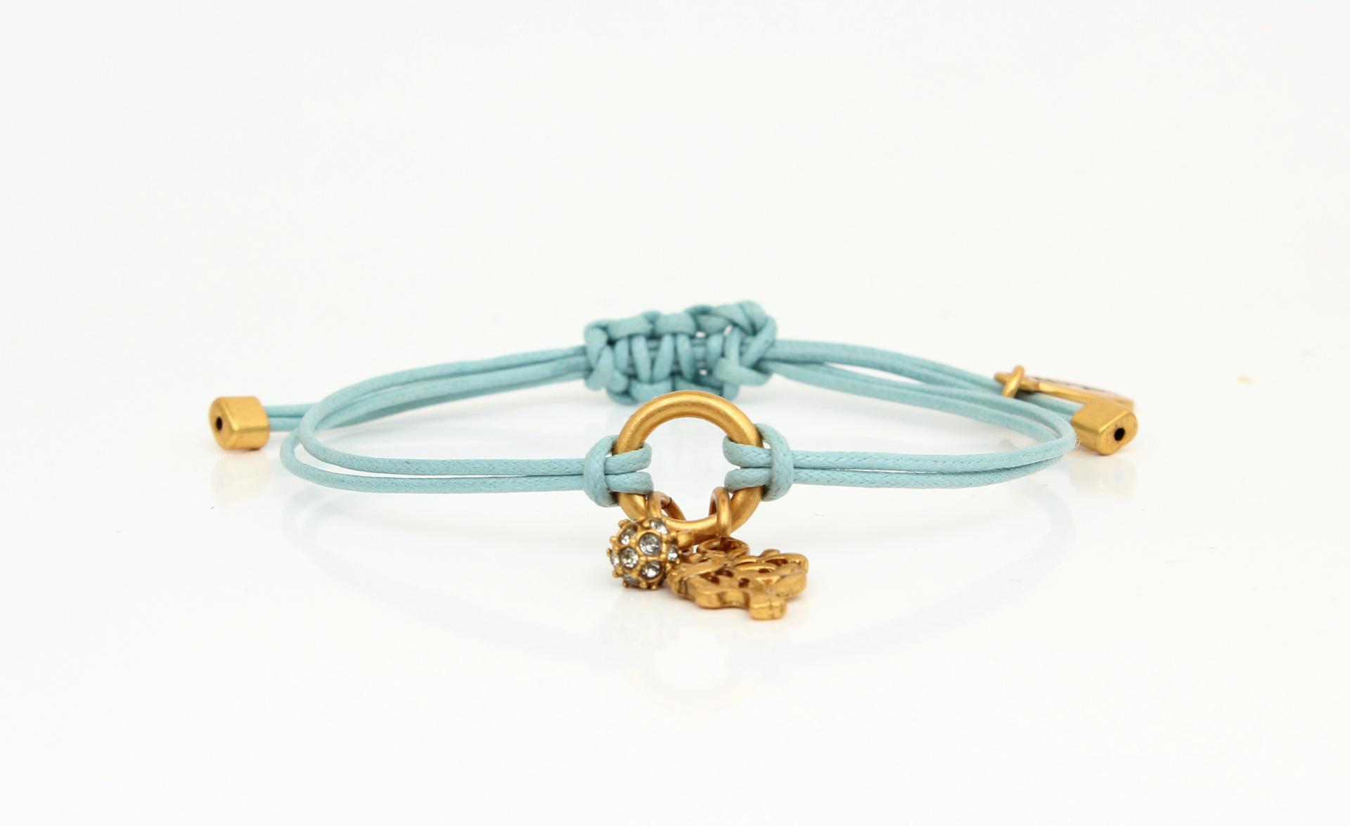 HULTQUIST Náramek Tree/ball gold, modrá barva B291007314E
