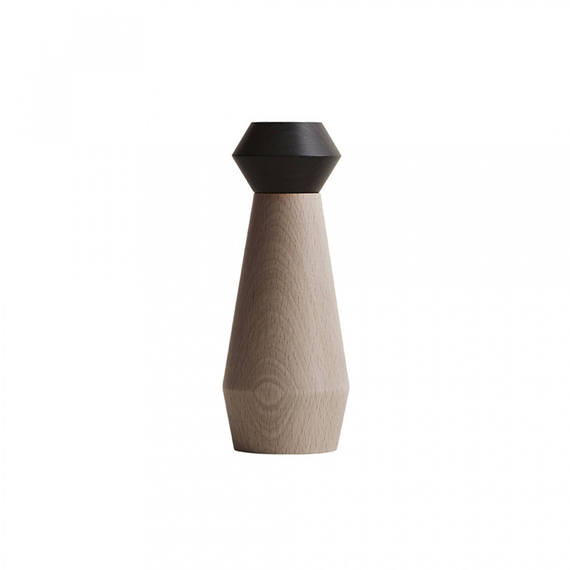 OYOY Dřevěný mlýnek na sůl či pepř Black, černá barva, hnědá barva, dřevo