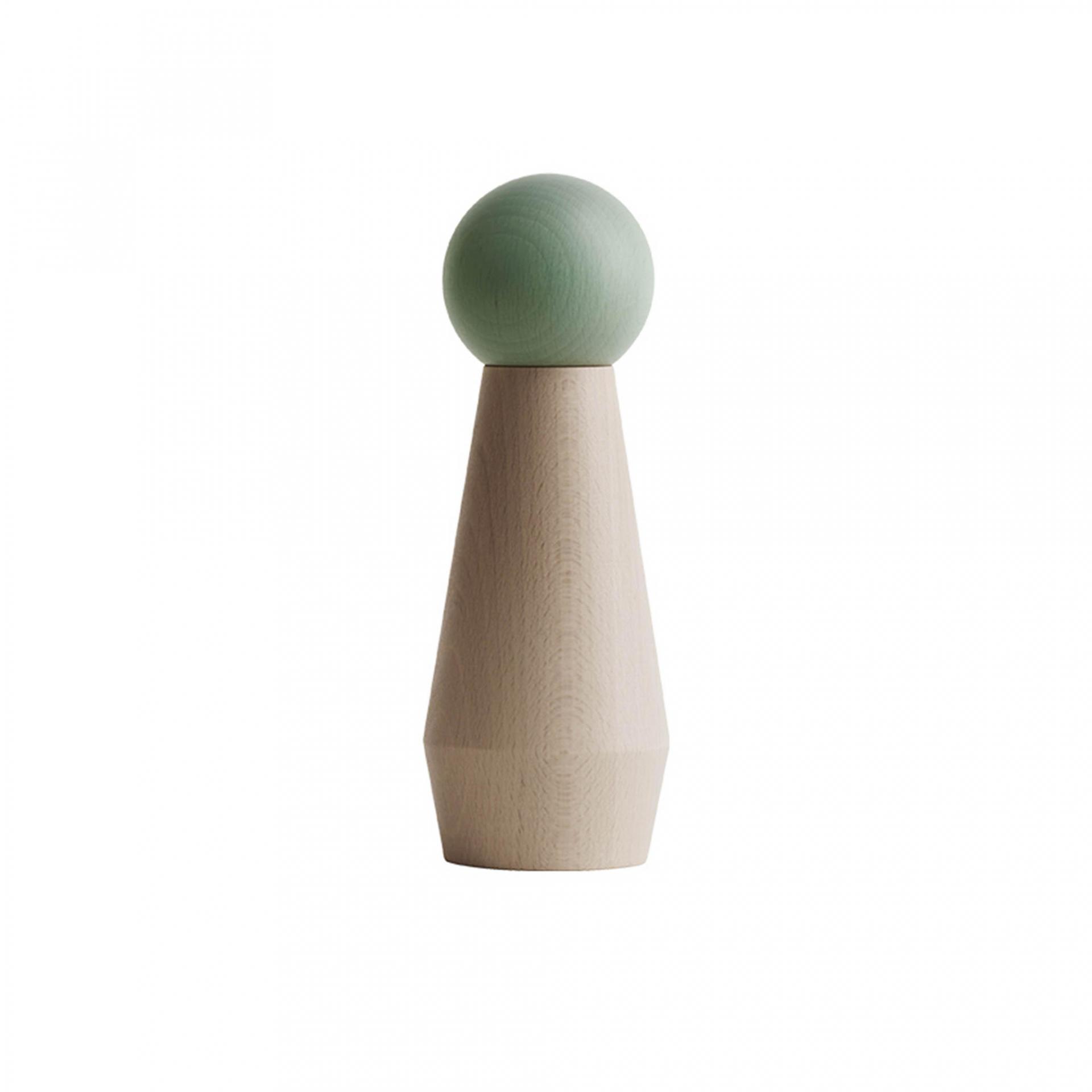 OYOY Dřevěný mlýnek na sůl či pepř Mint, zelená barva, hnědá barva, dřevo
