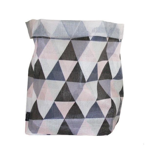 OYOY Úložný plastový košík Hokuspokus Triangle