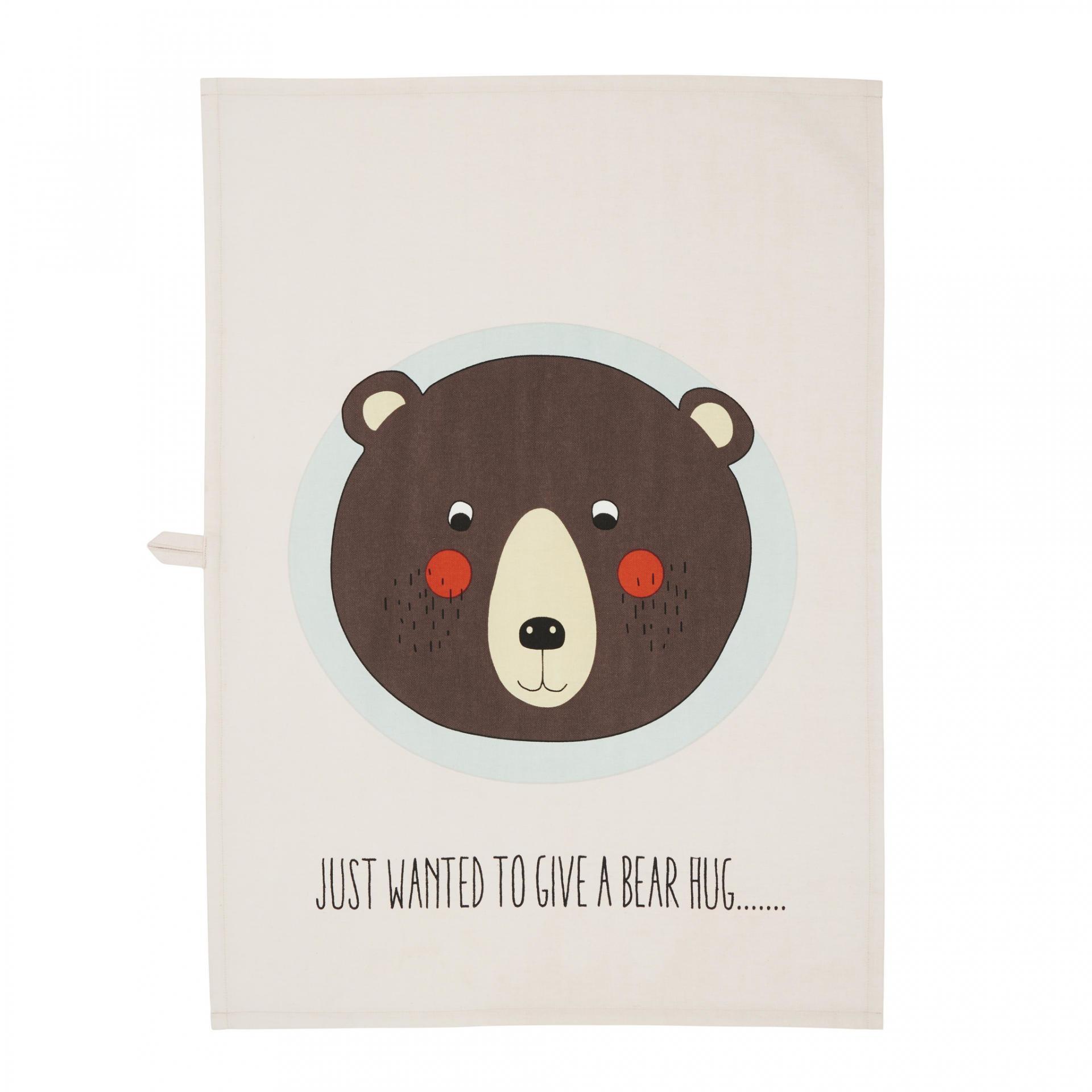 OYOY Bavlněná utěrka Bear