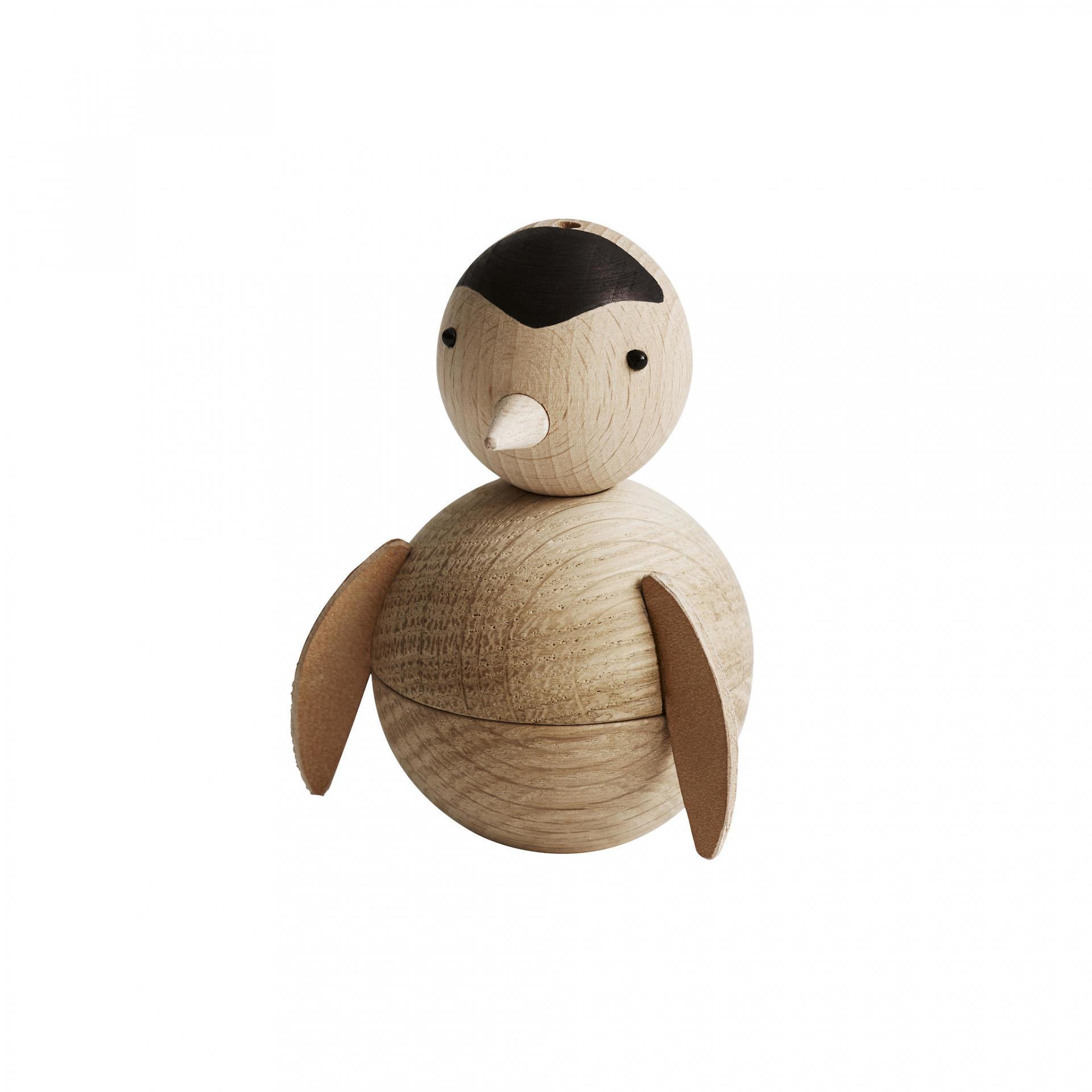 OYOY Dřevěná figurka Penguin, hnědá barva, dřevo