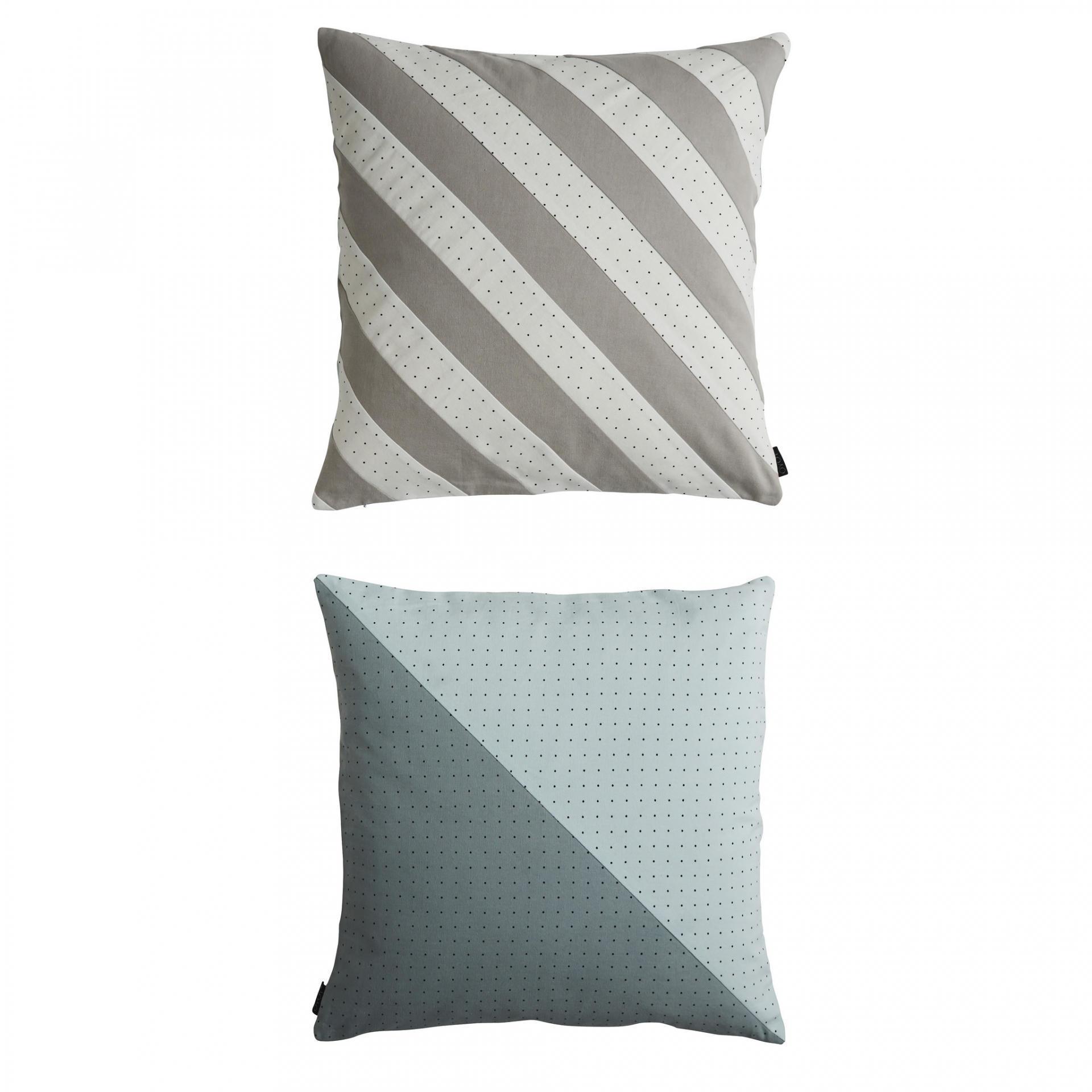 OYOY Bavlněný patchworkový polštář Dotti Pale Blue, multi barva, textil
