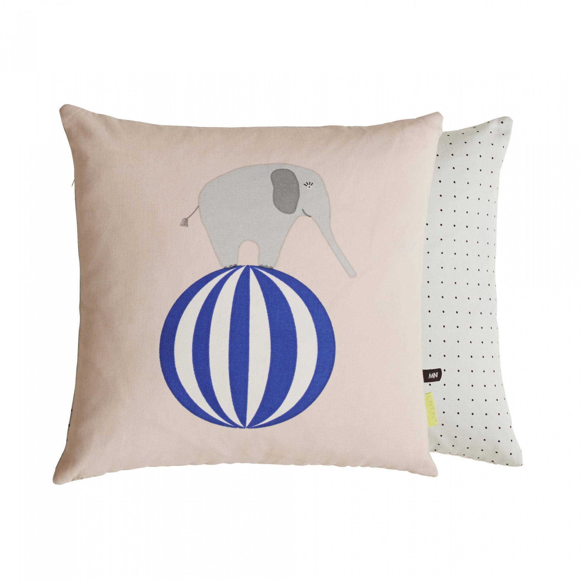 OYOY Dětský polštář Elephant, béžová barva, multi barva, textil