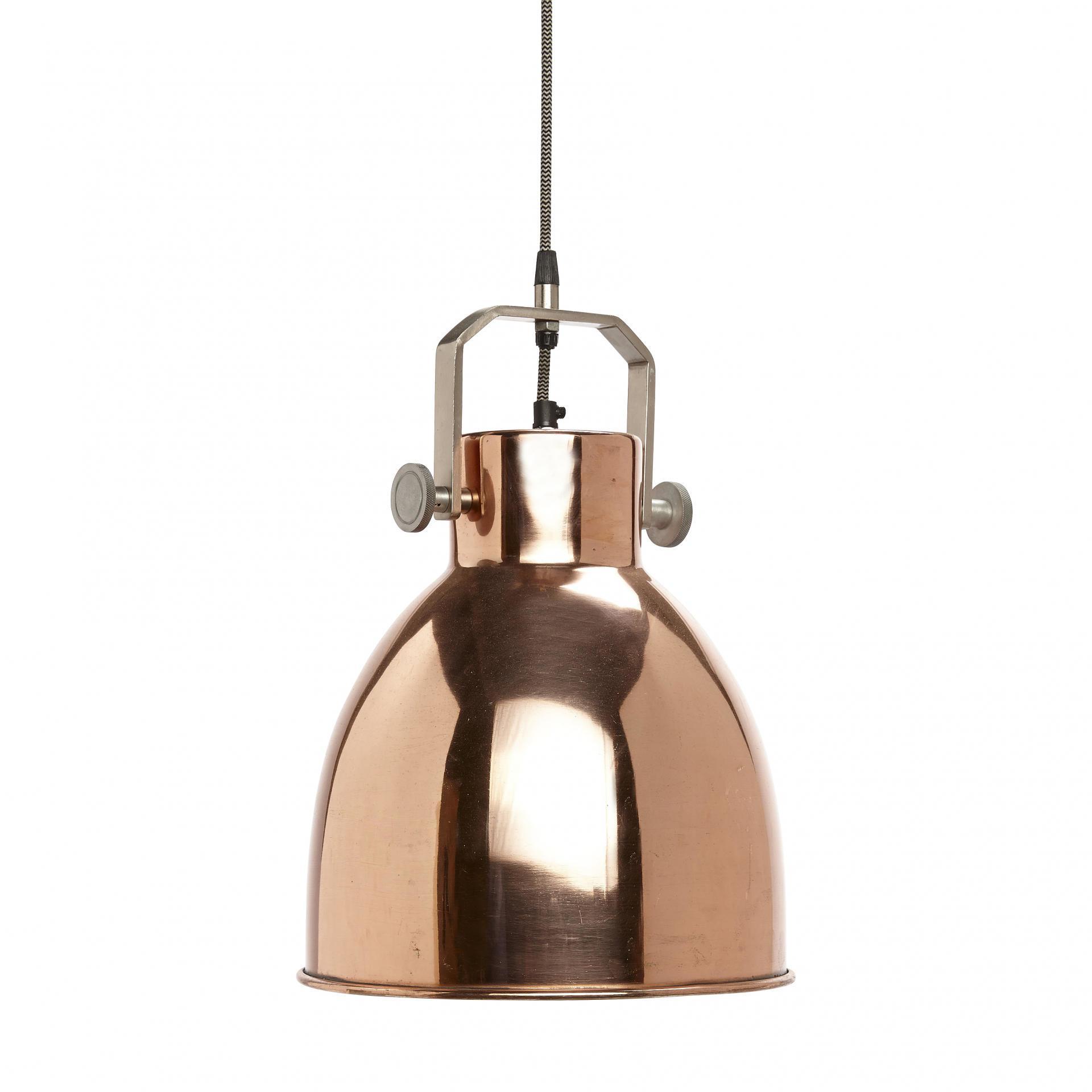 Hübsch Závěsná lampa Copper industrial, měděná barva, kov