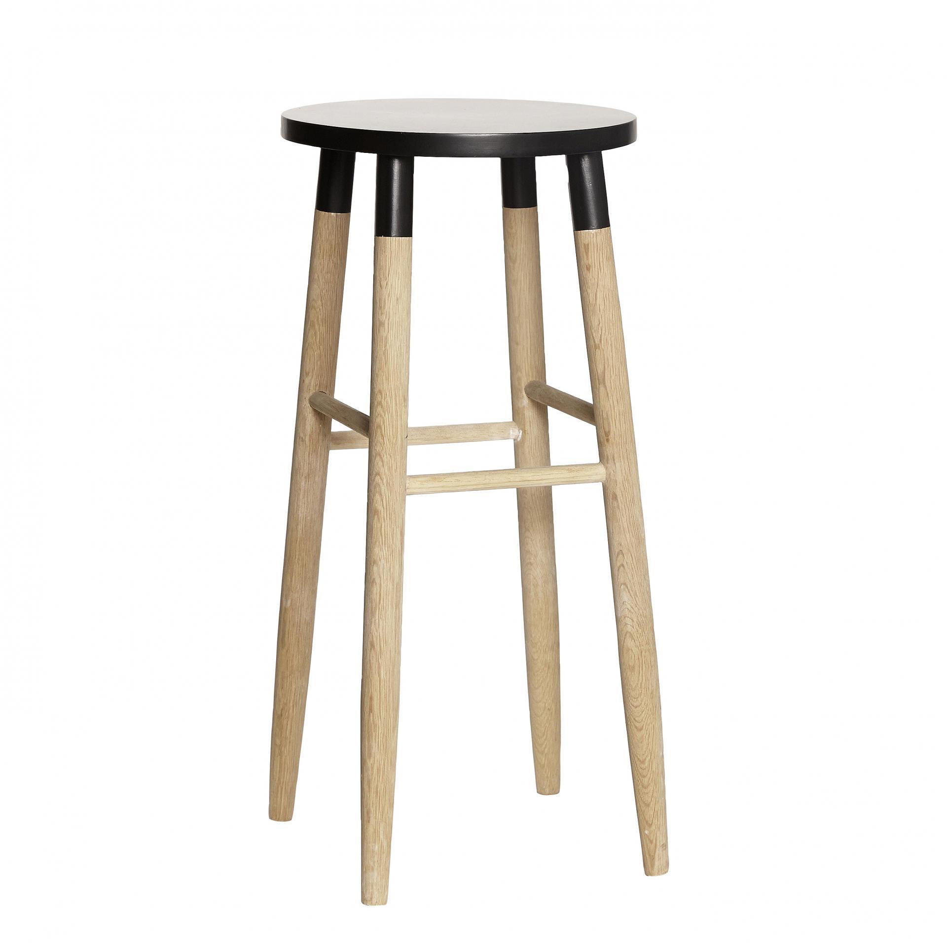 Hübsch Barová stolička Nature/black