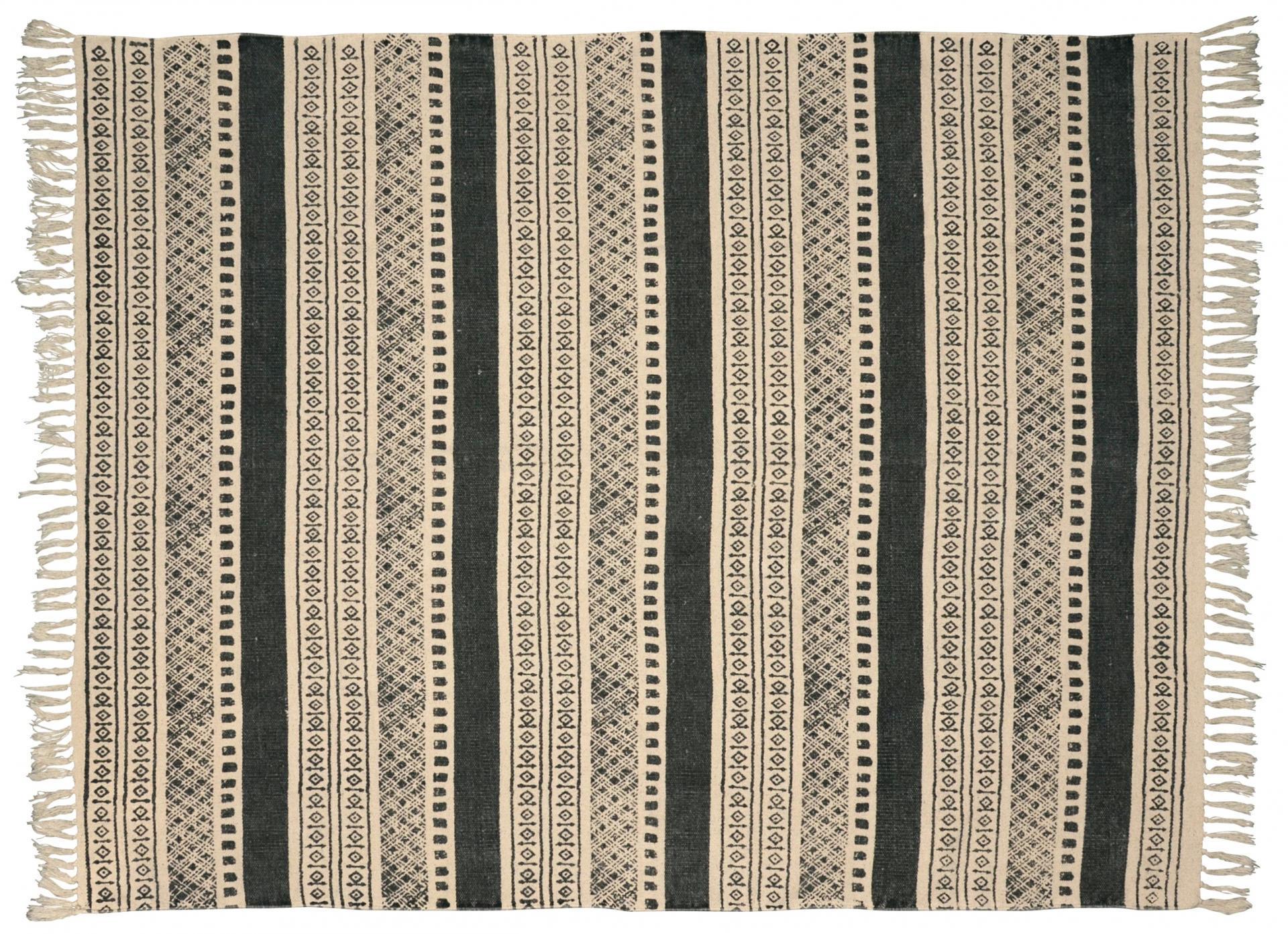 IB LAURSEN Koberec Graphical pattern 130x160 Šedá