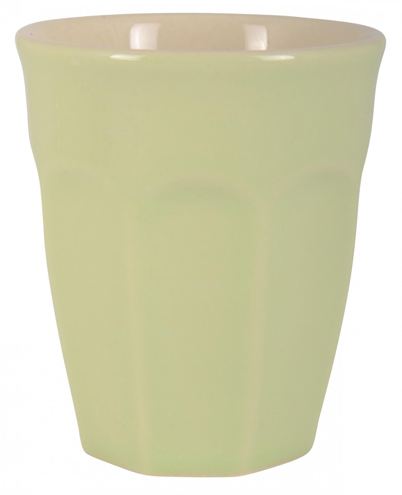 IB LAURSEN Latte hrneček Mynte applegreen 250 ml, zelená barva, keramika