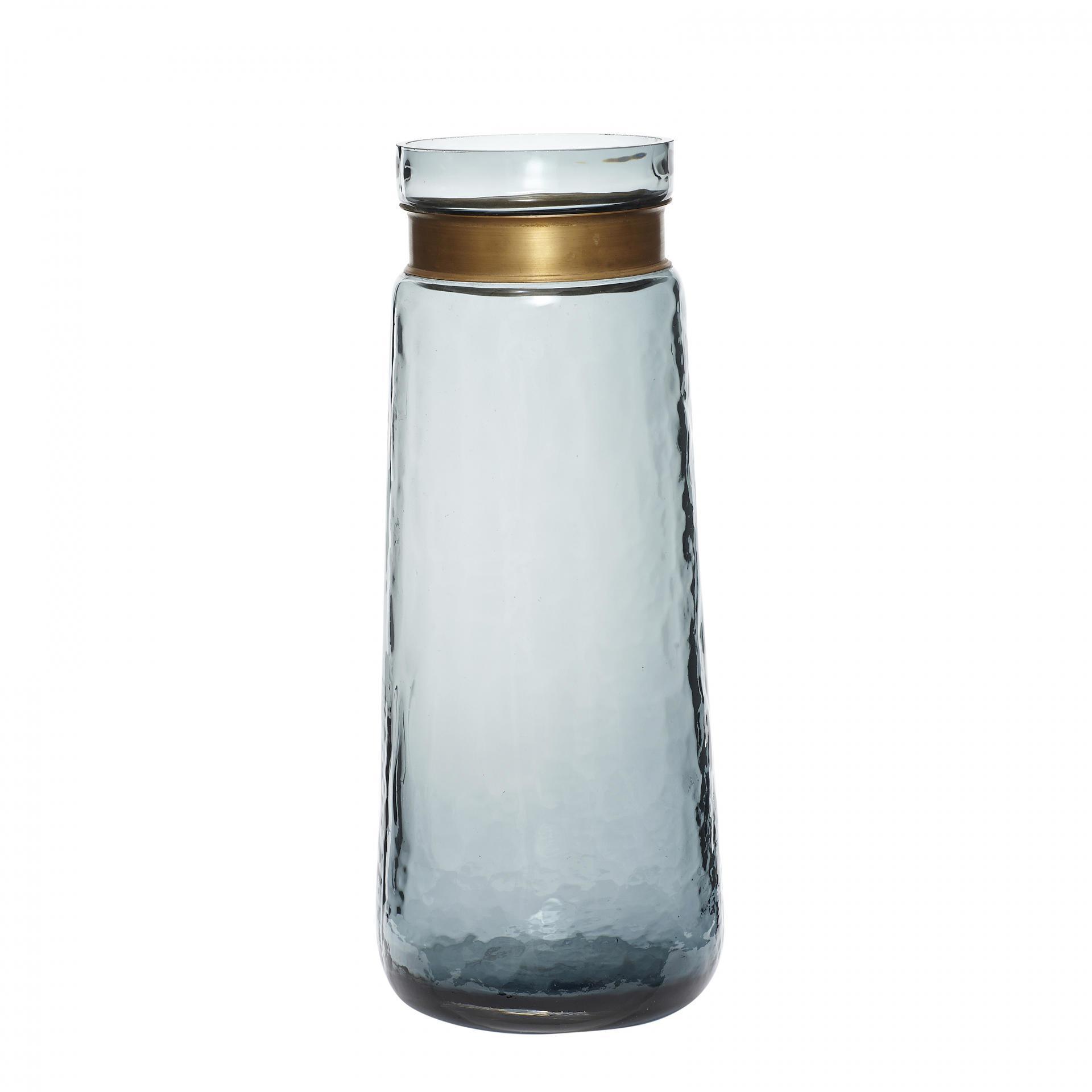 Hübsch Skleněná váza Brass