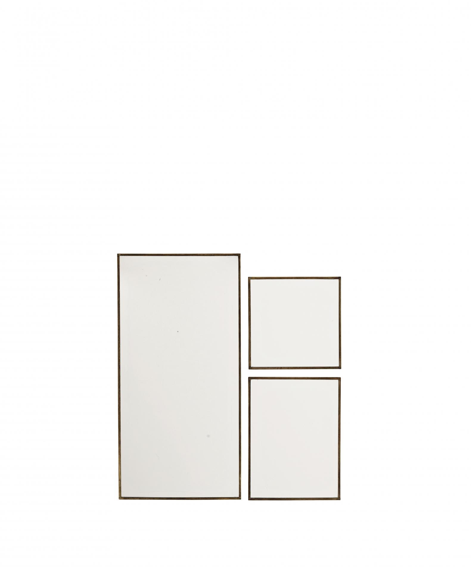 MADAM STOLTZ Závěsné zrcadlo Antique Brass Velikost S, zlatá barva, čirá barva, sklo, kov