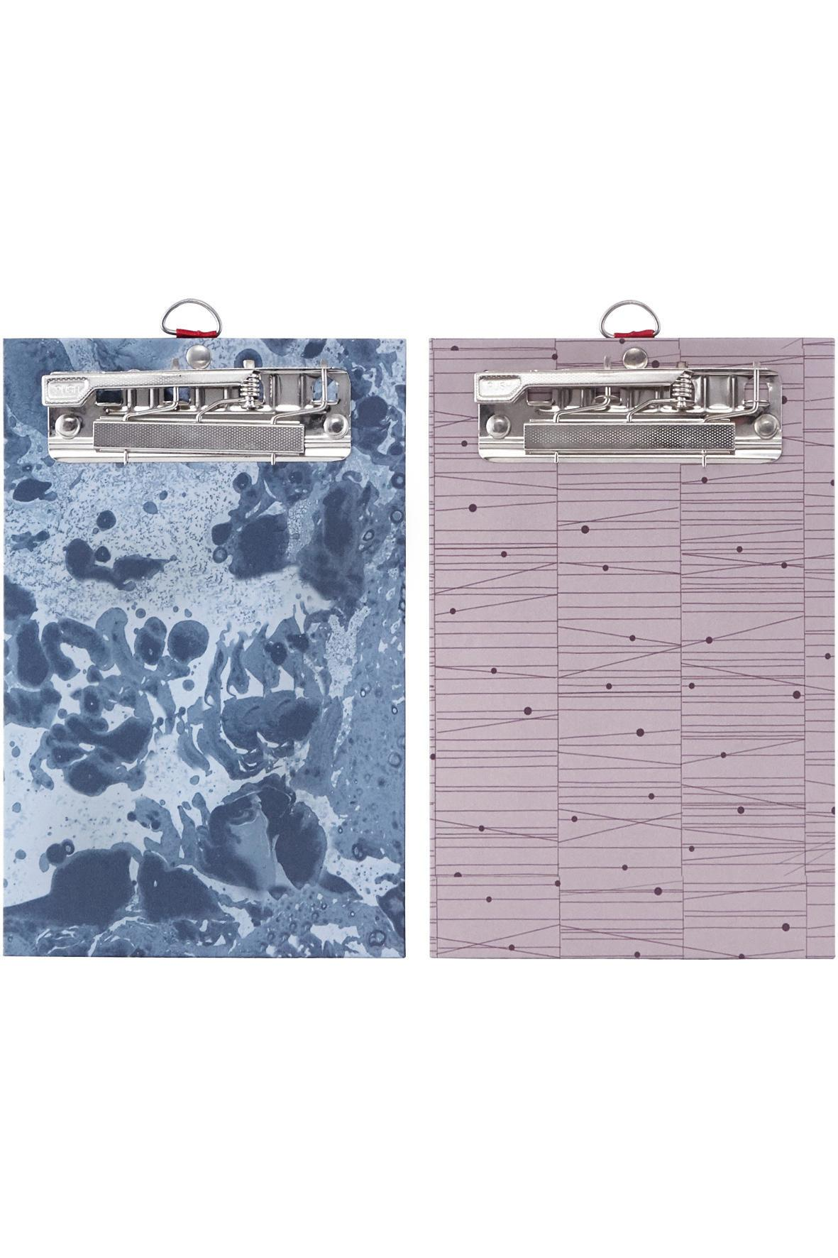 House Doctor Papírová podložka Seasons - 2 druhy Modrá, fialová barva, modrá barva, kov, papír