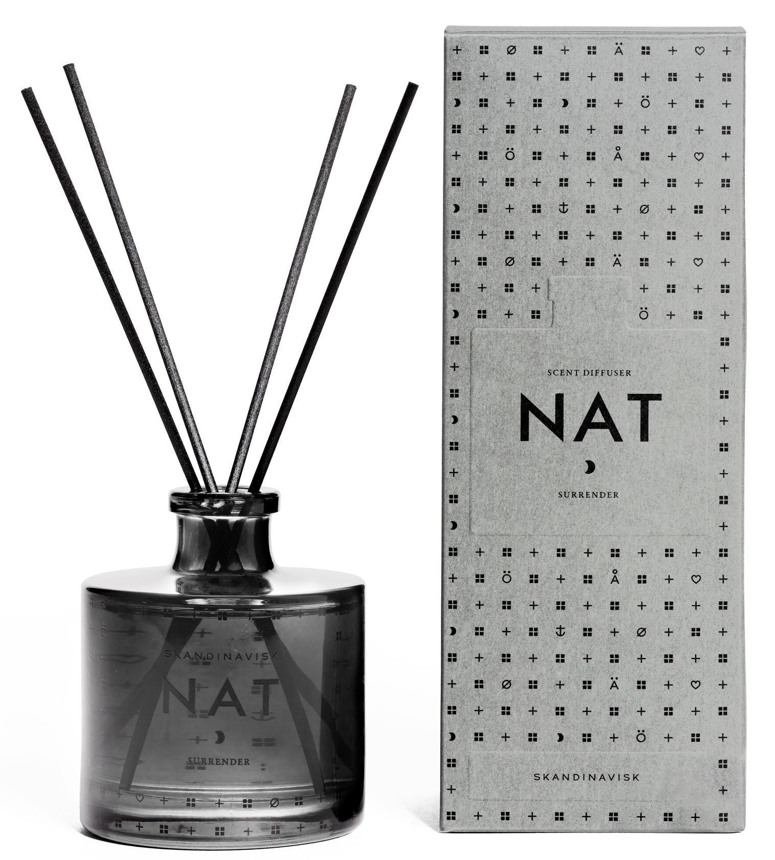 SKANDINAVISK Vonný difuzér NAT (noc) 200 ml, šedá barva, sklo