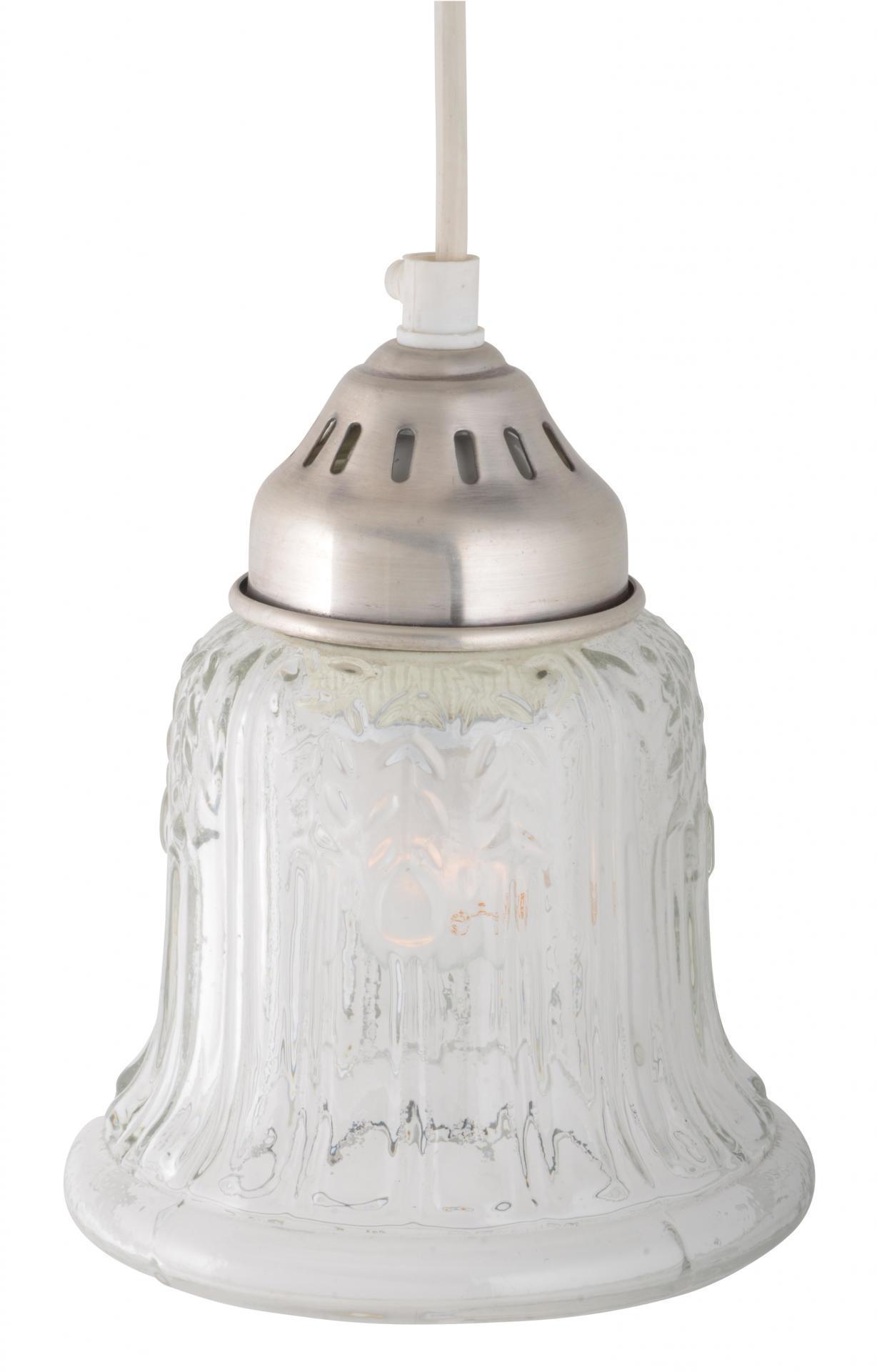 IB LAURSEN Stropní lampa Pressed glass, čirá barva, sklo, kov