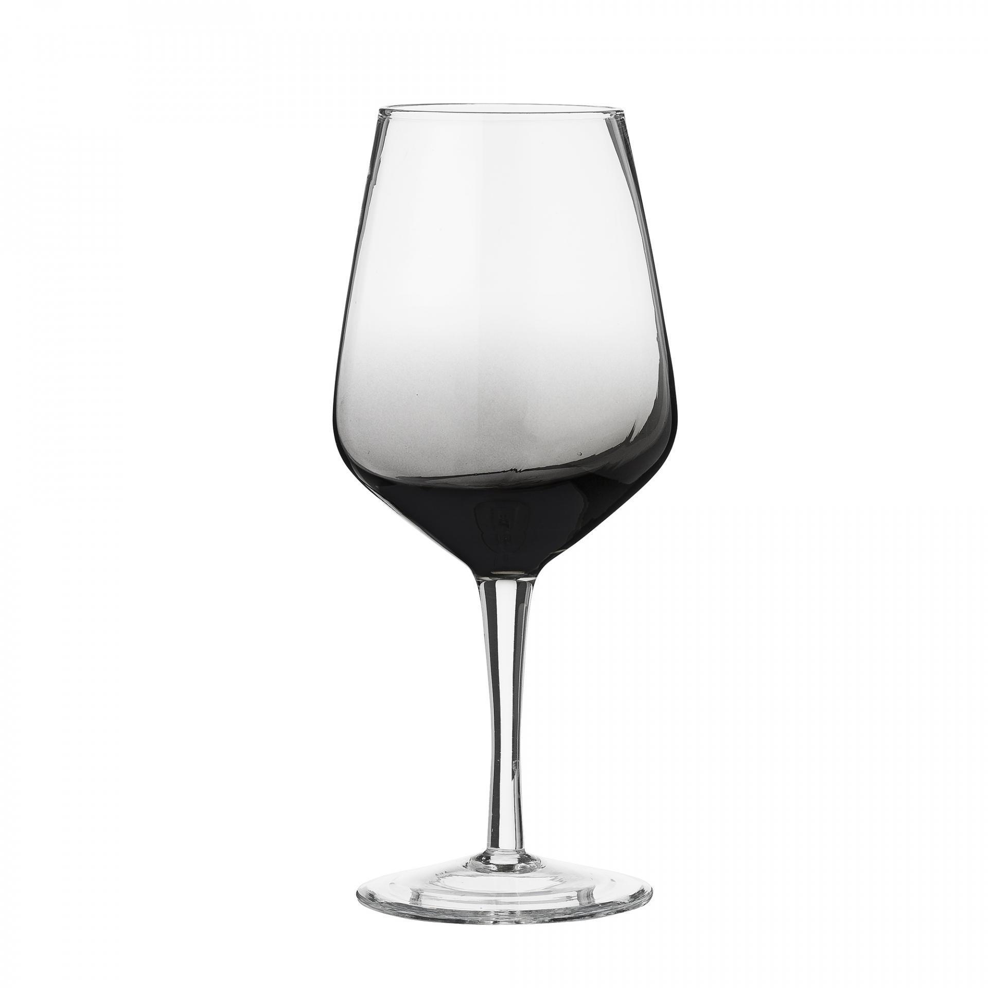 Bloomingville Sklenička na víno Dip Dye Grey, čirá barva, sklo