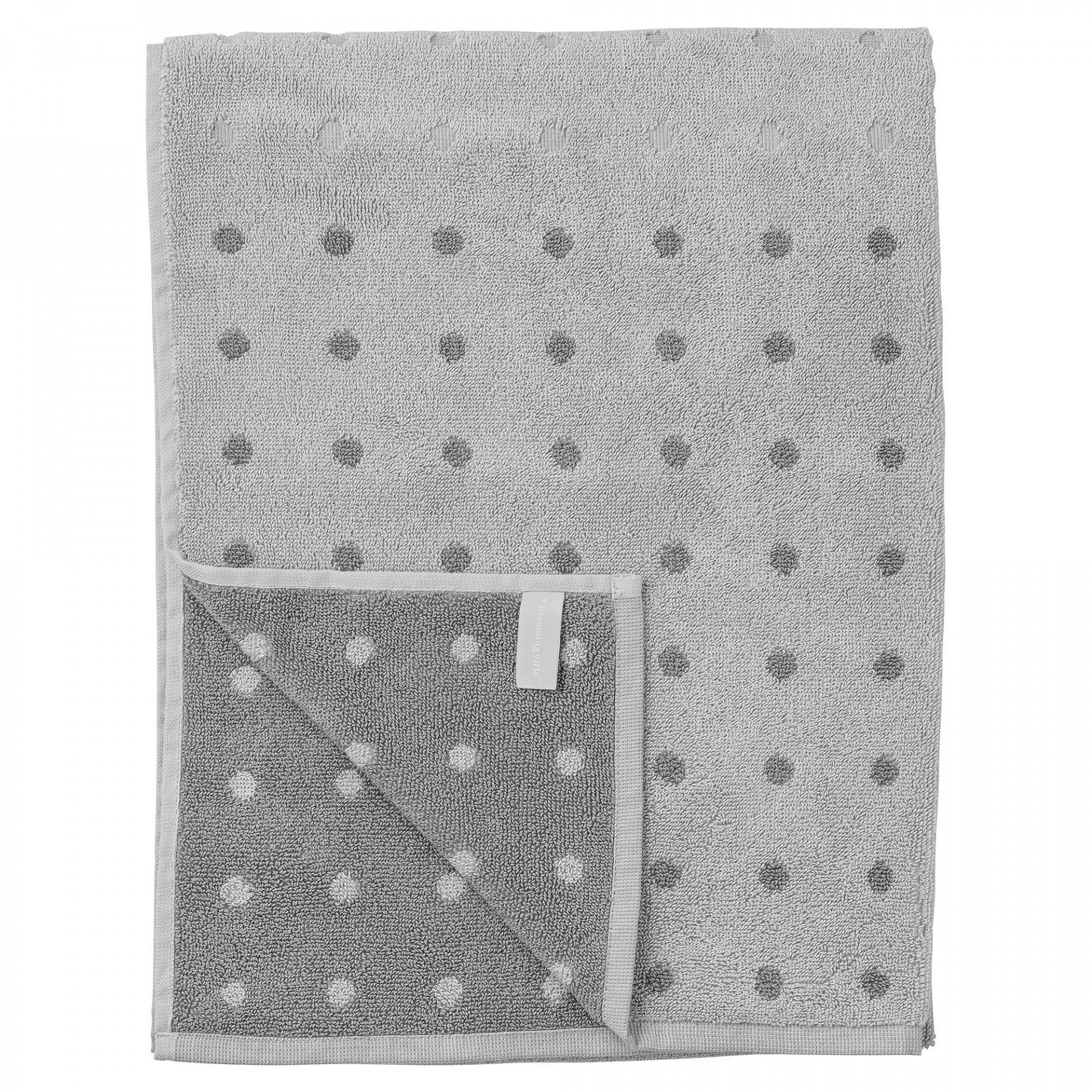 Bloomingville Bavlněný ručník Grey Dot 50 x 70 cm, šedá barva, textil