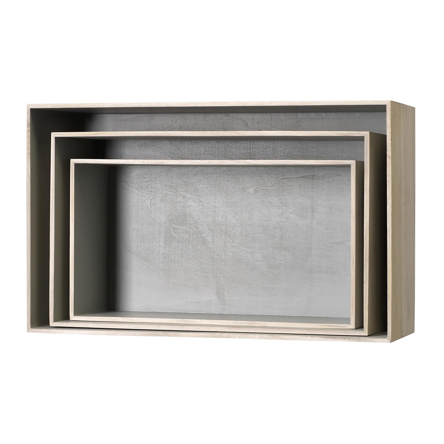Bloomingville Nástěnné boxy Nature Grey - 3 velikosti Velikost L