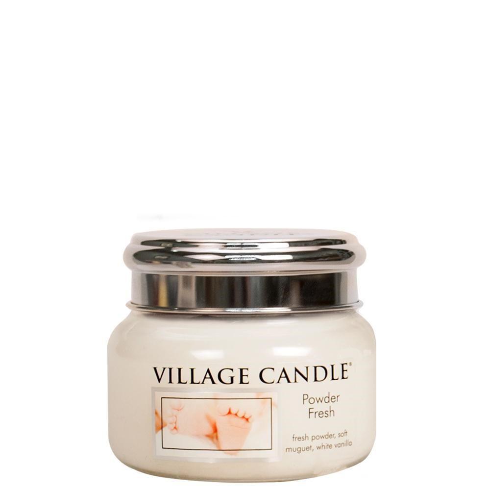 VILLAGE CANDLE Svíčka Village Candle - Powder Fresh 262g, bílá barva, sklo