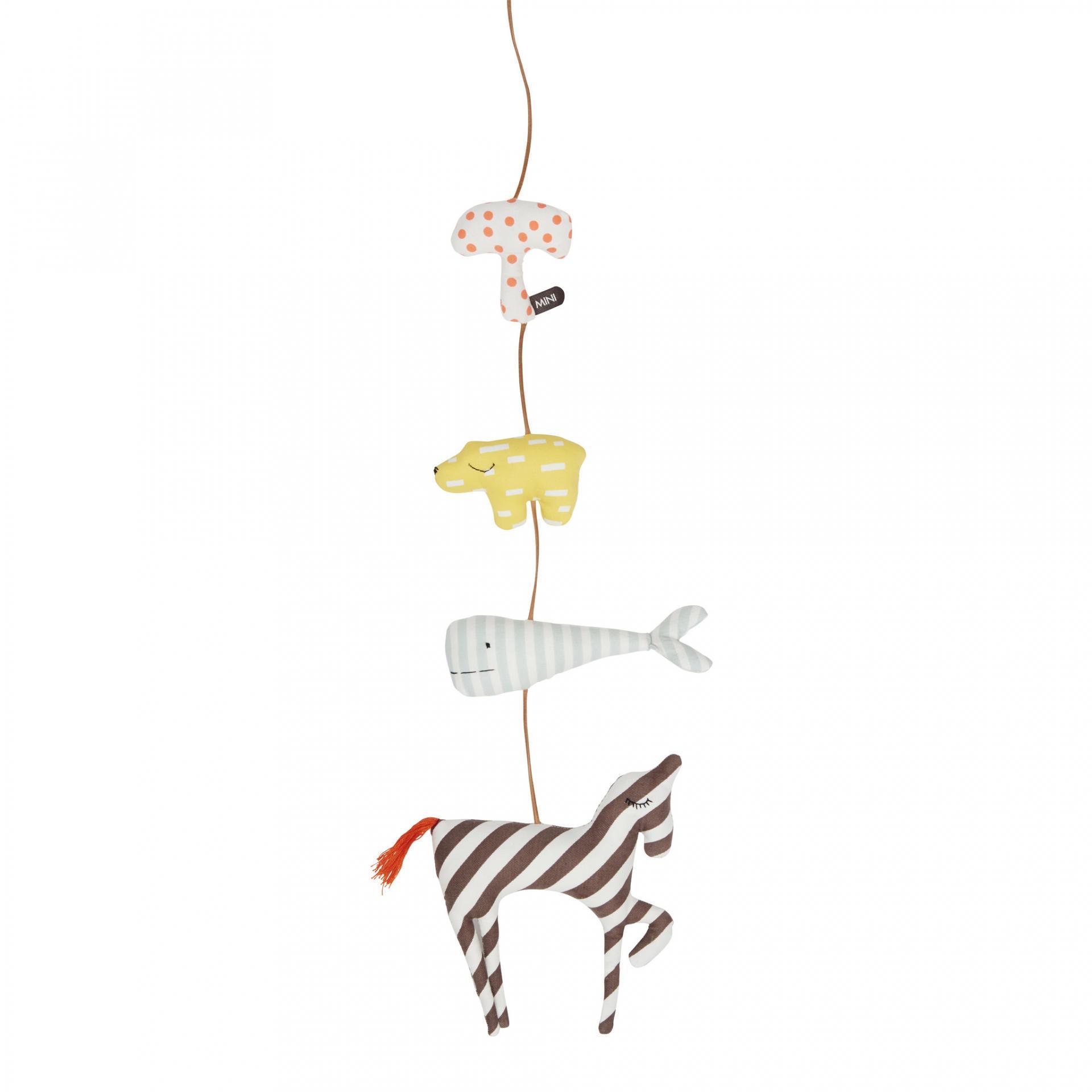 OYOY Závěsná dekorace se zvířátky Animal, multi barva, textil