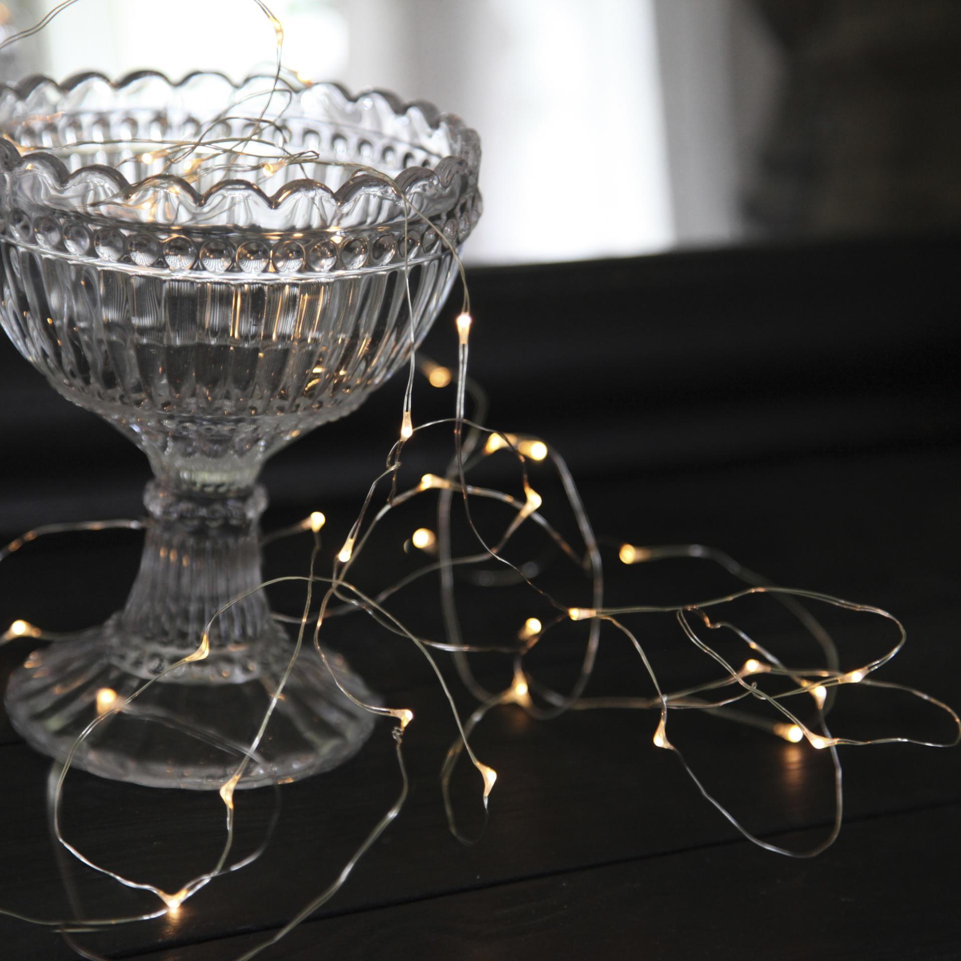 STAR TRADING Světelný LED drátek Silver Light, stříbrná barva