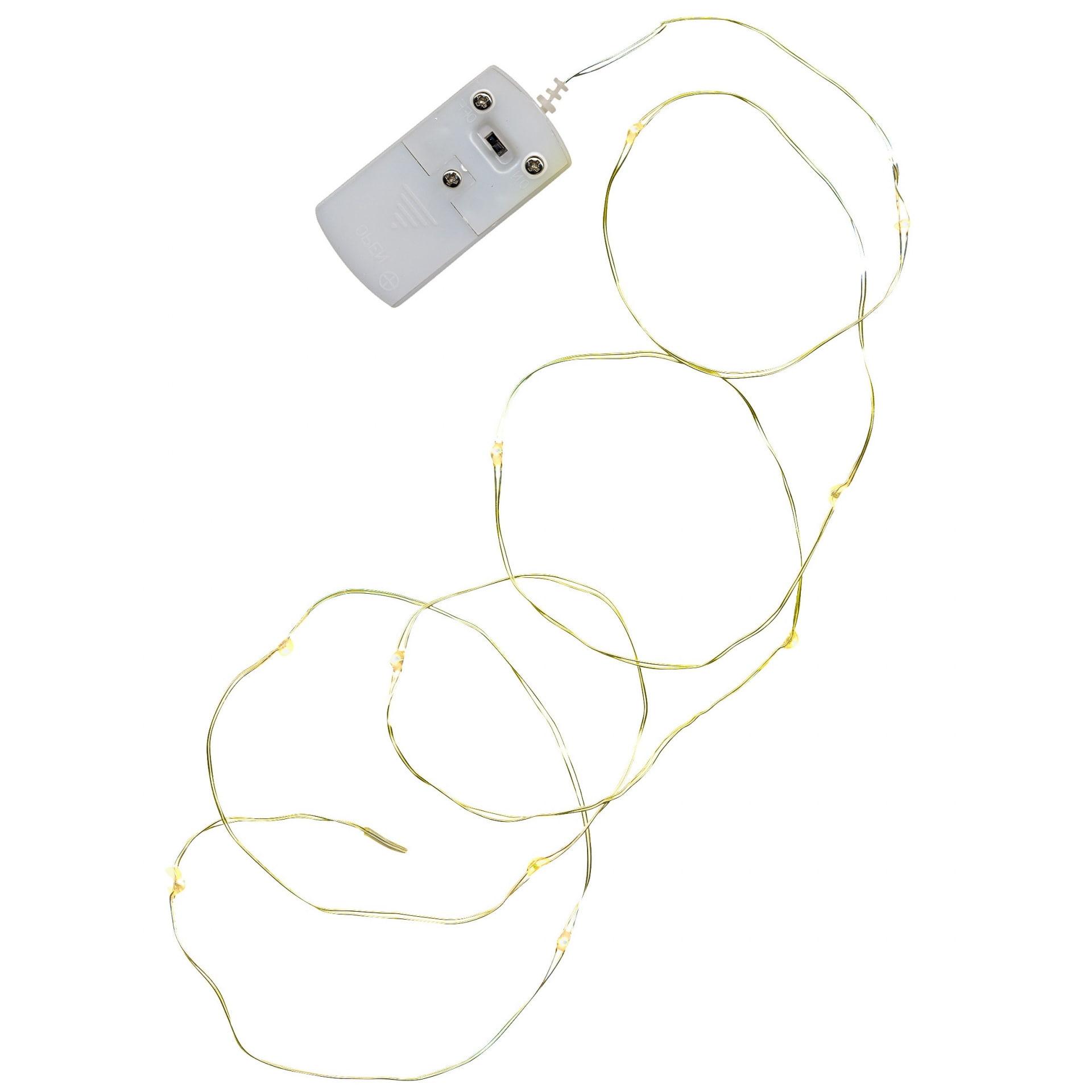 Star Trading Svítící LED drátek Brass String
