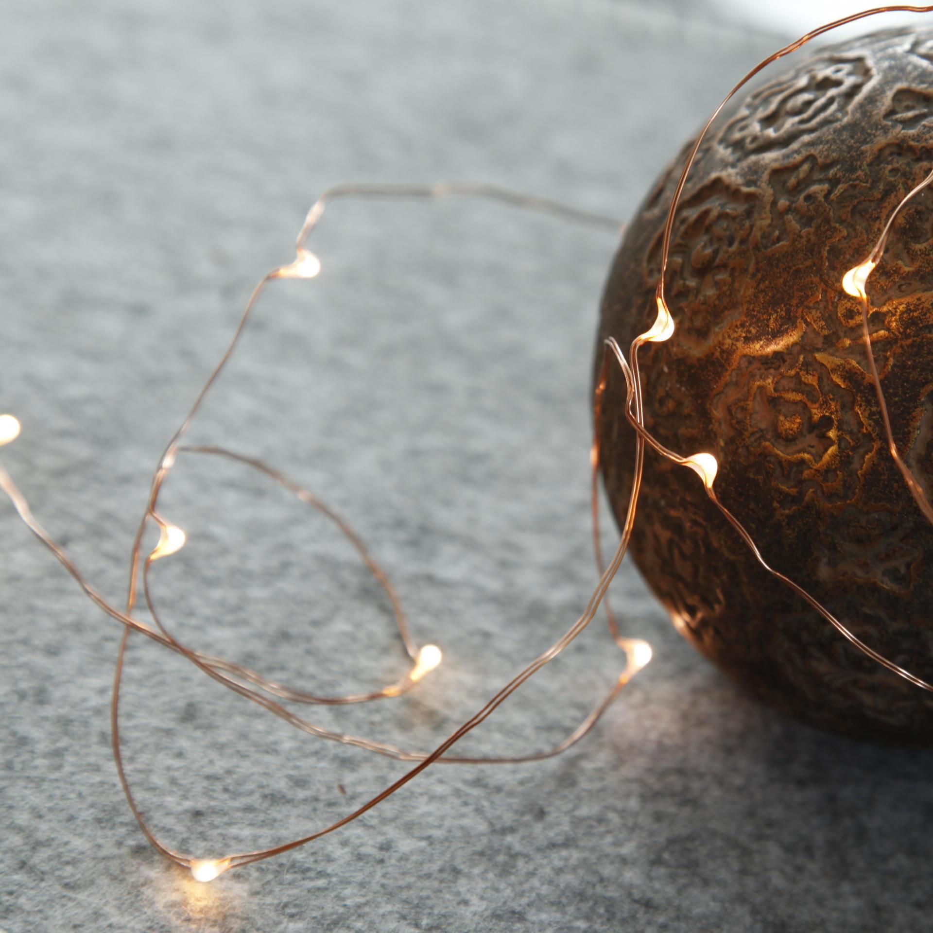 Star Trading Svítící LED drátek Copper String
