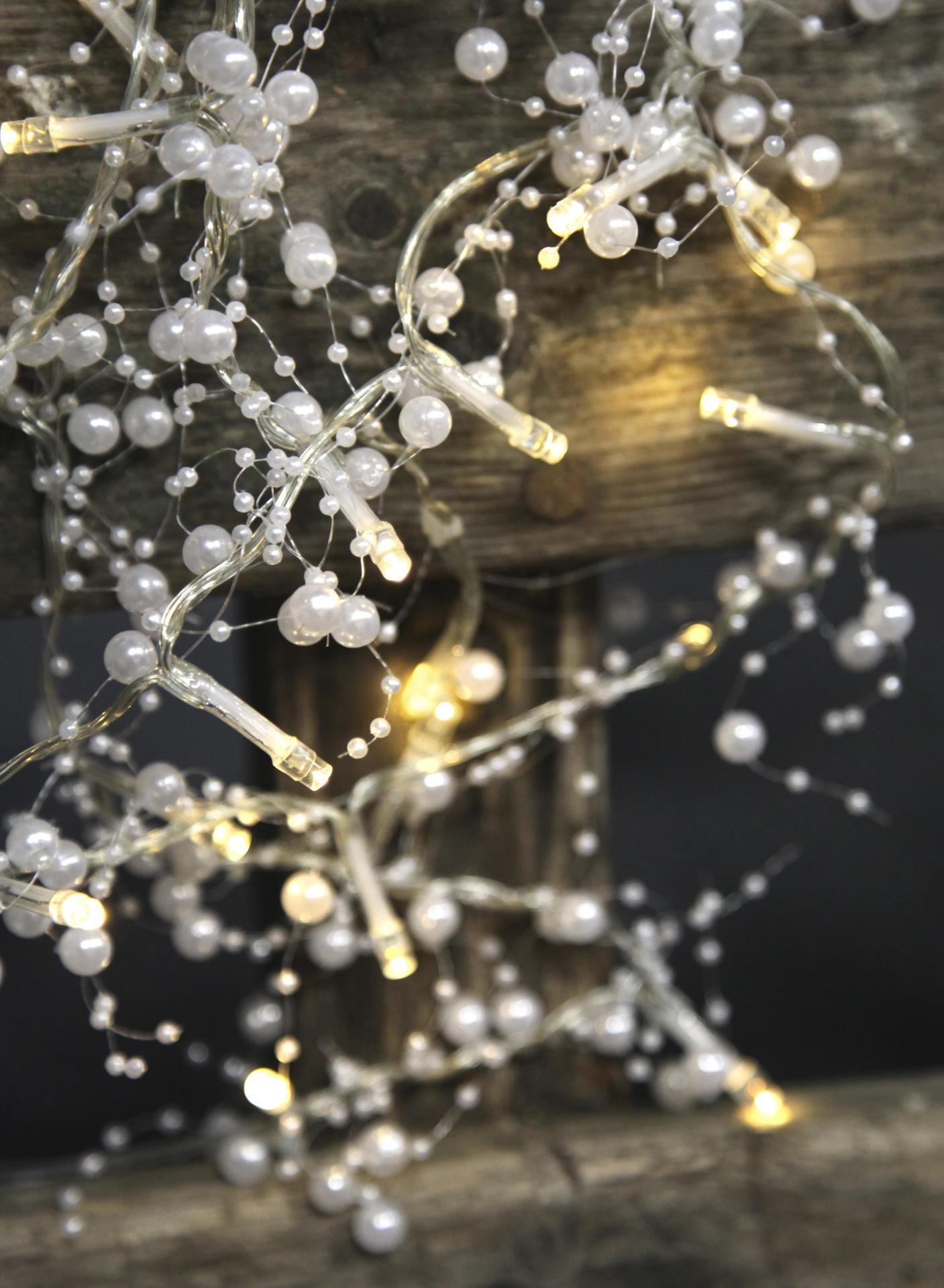 Star Trading Světelný LED řetěz Pearl White