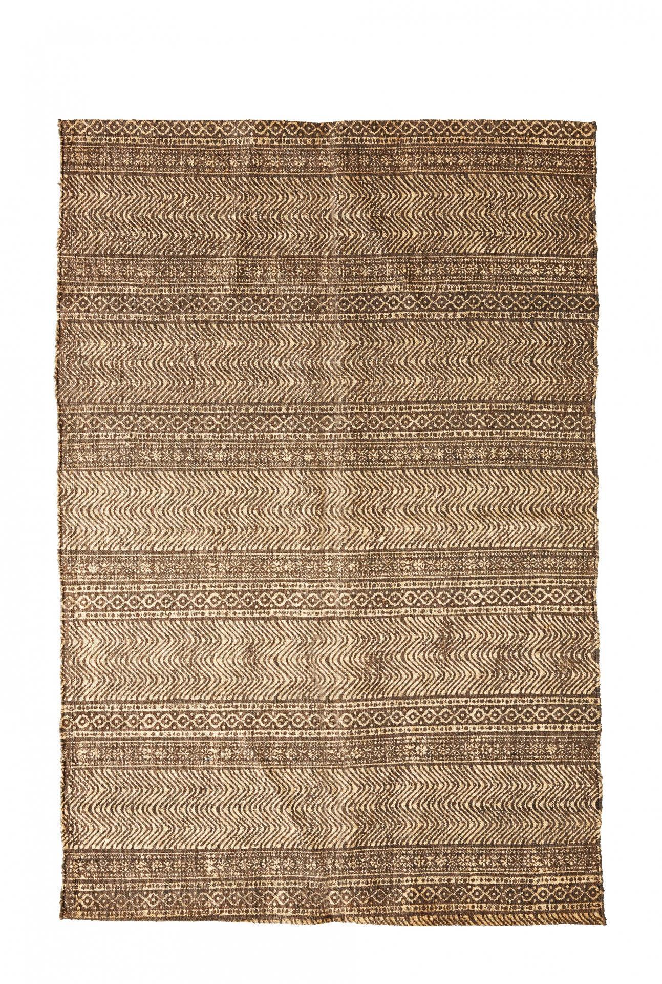 MADAM STOLTZ Ručně tkaný koberec Printed gold 120x180, zlatá barva, textil
