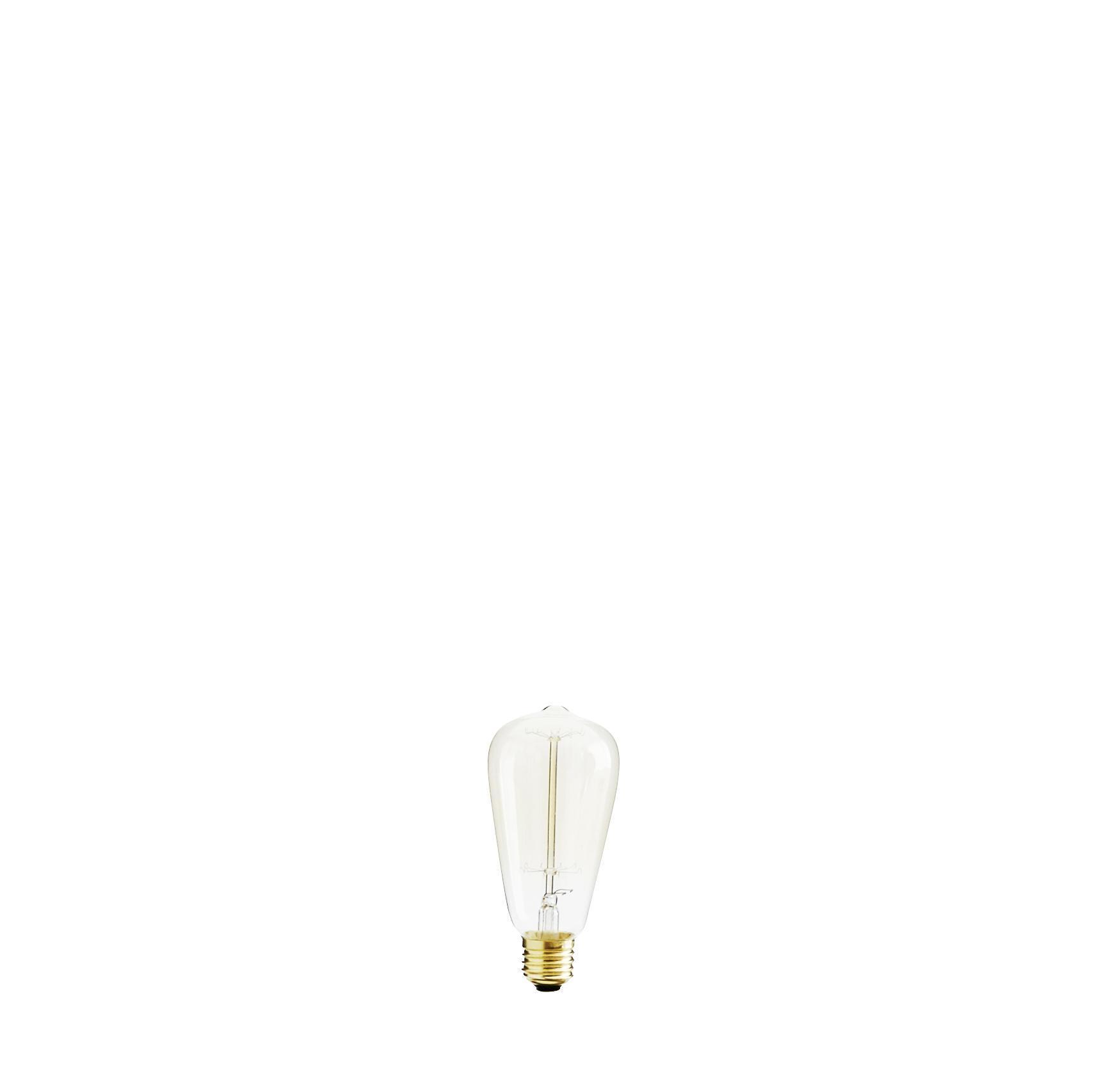 MADAM STOLTZ Žárovka E 40W, zlatá barva, čirá barva, sklo