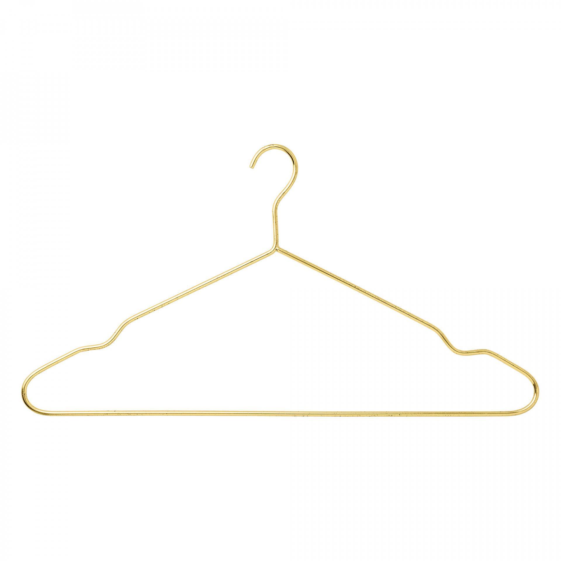 Bloomingville Kovové ramínko na šaty Gold, zlatá barva, kov
