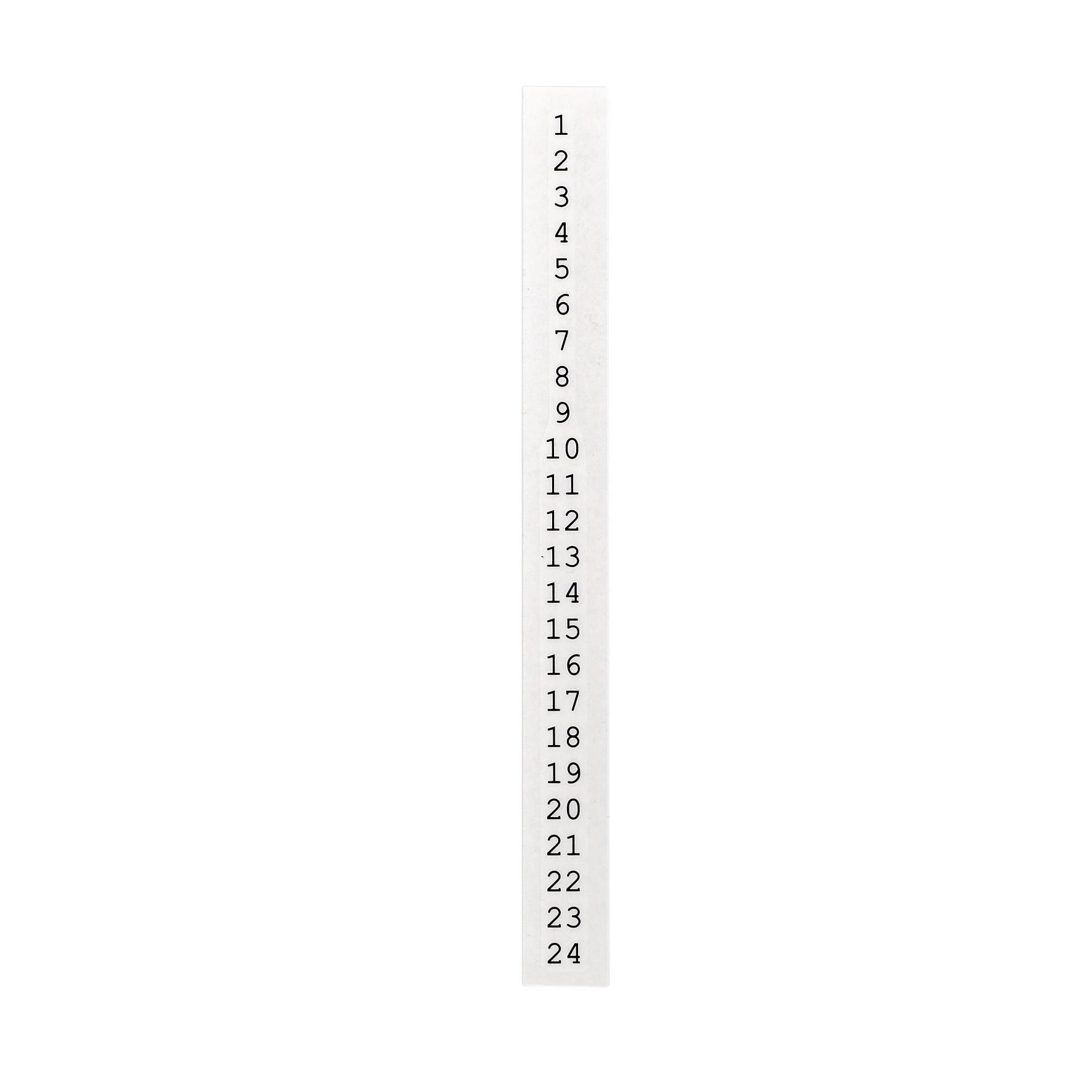 Bloomingville Adventní nálepka na svíčku 20 cm (1-24), černá barva, bílá barva, papír