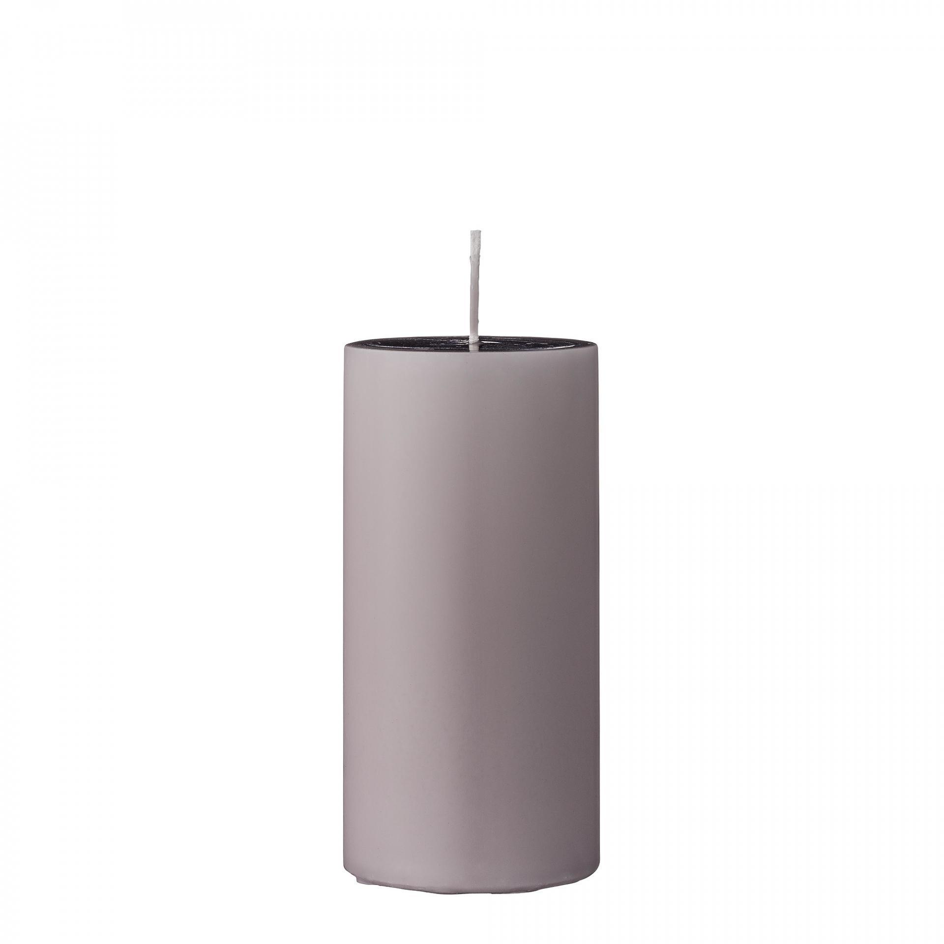 Bloomingville Svíčka Mauve 15 cm, fialová barva