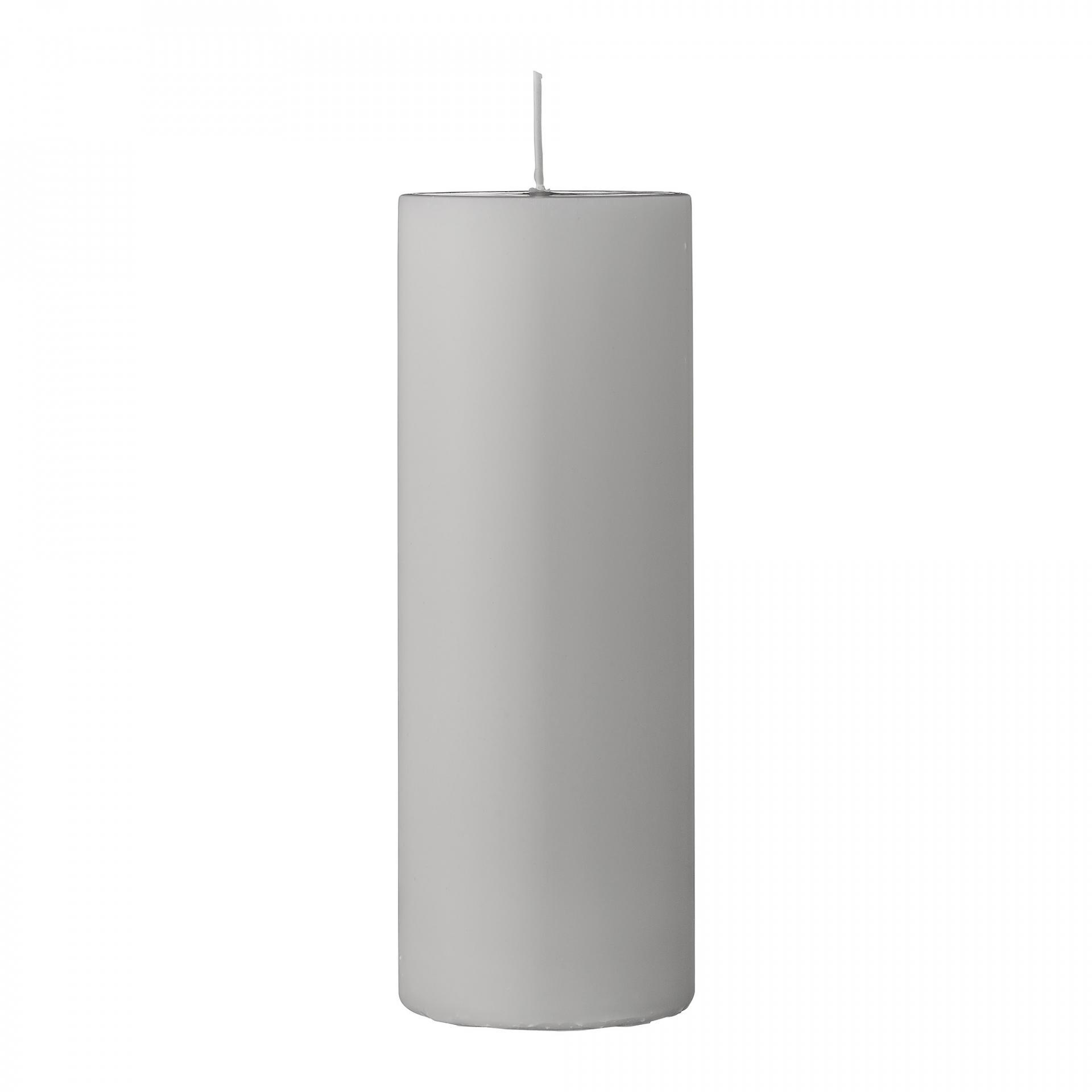 Bloomingville Svíčka Light Grey 20 cm, šedá barva