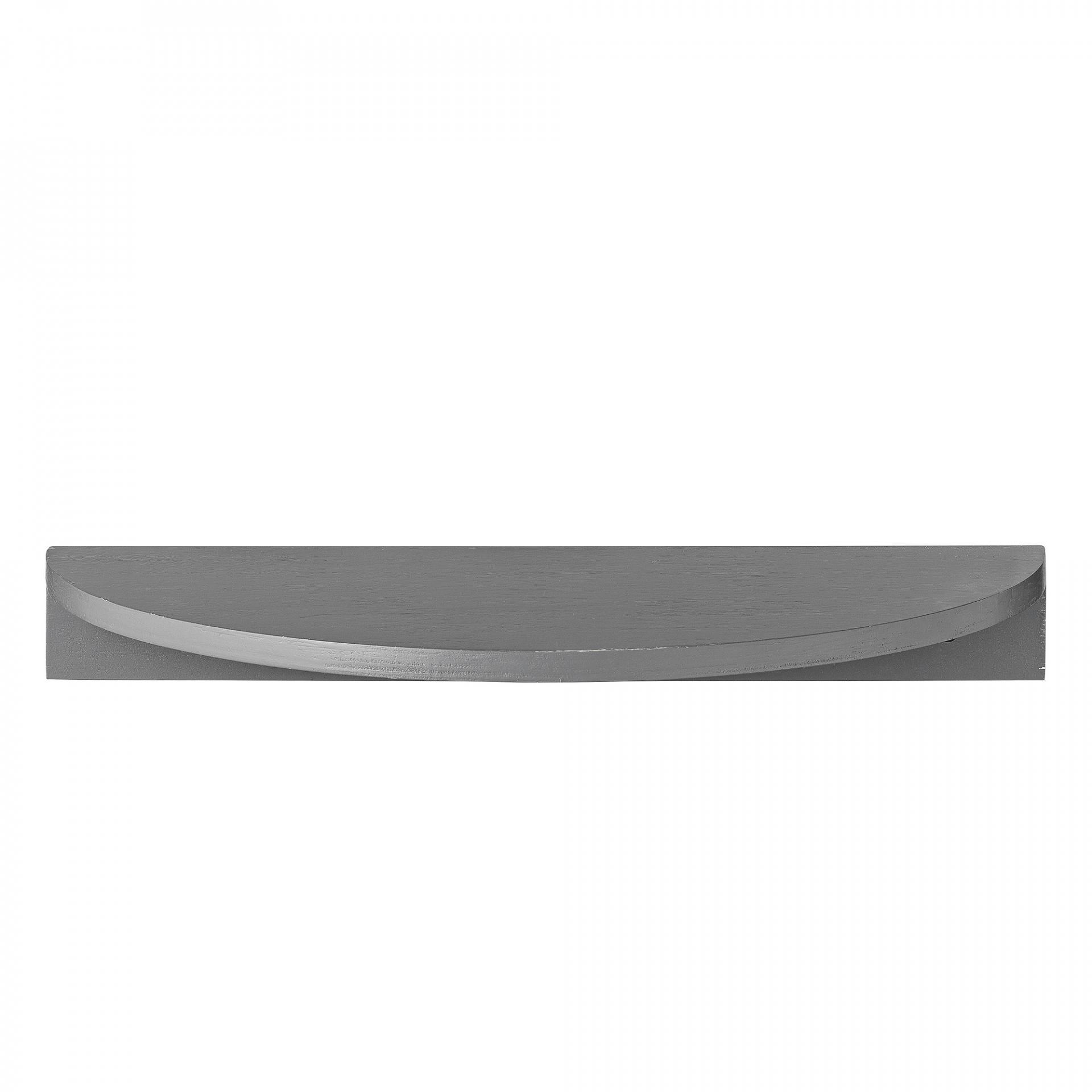 Bloomingville Dřevěná polička Half Moon Cool Grey, šedá barva, dřevo, dřevotříska