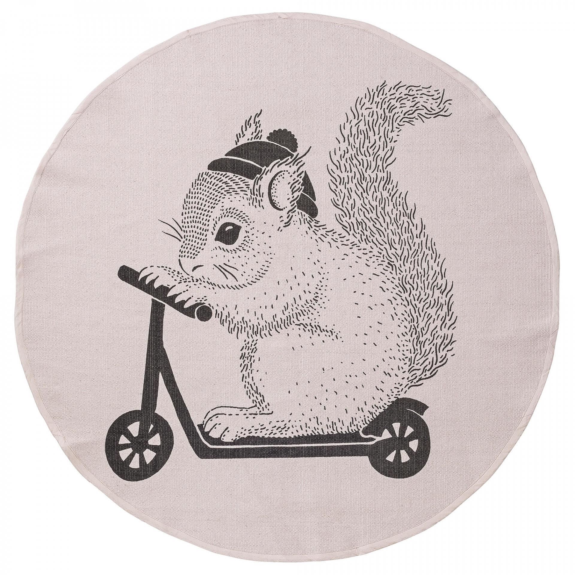 Bloomingville Koberec do dětského pokoje Squirrel Blush Černá