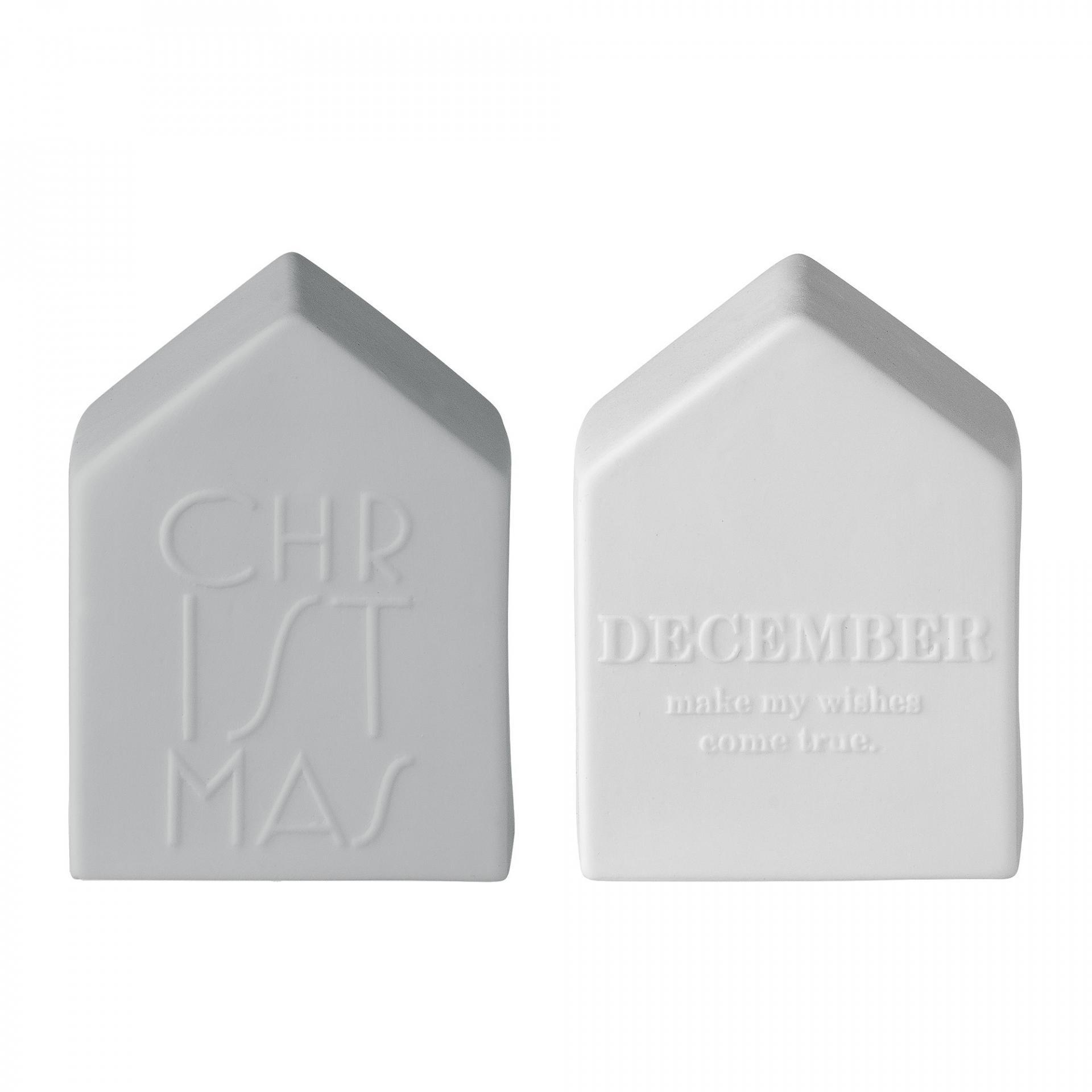 Bloomingville Dekorativní porcelánový domeček Christmas Bílý