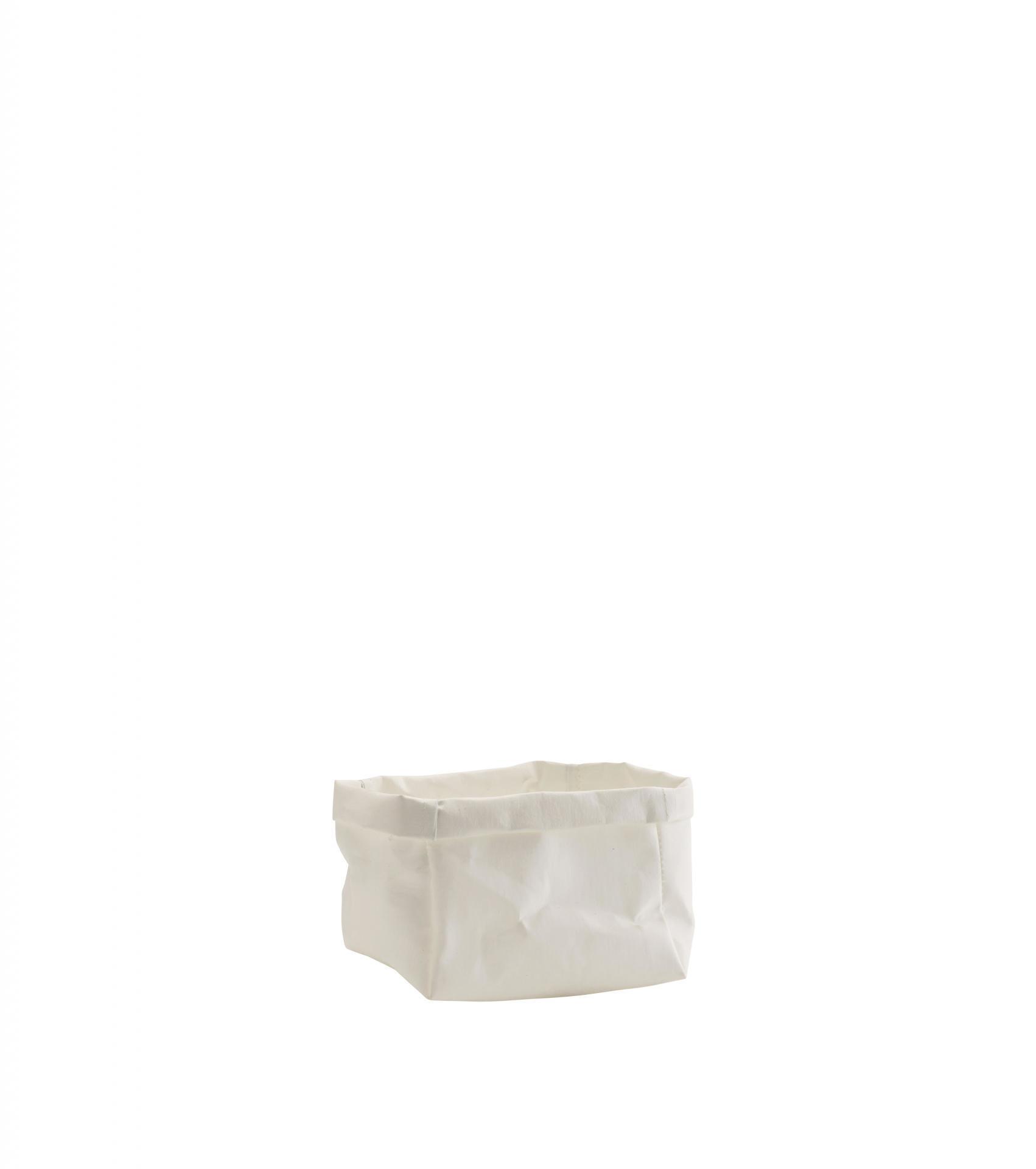 MADAM STOLTZ Papírový box White 14 x 10 cm, bílá barva, papír