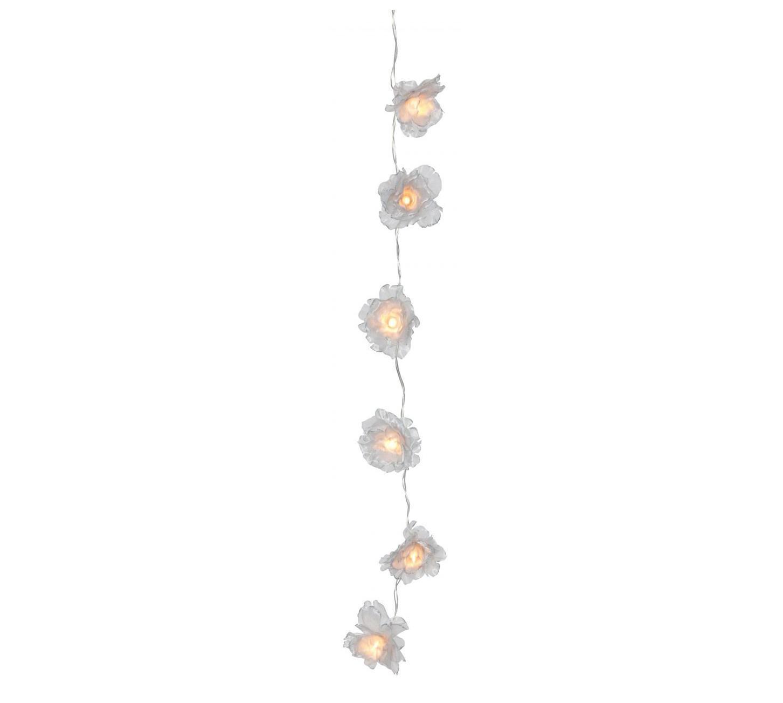watt & VEKE Světelný řetěz Rose Silver, šedá barva, stříbrná barva, plast, textil