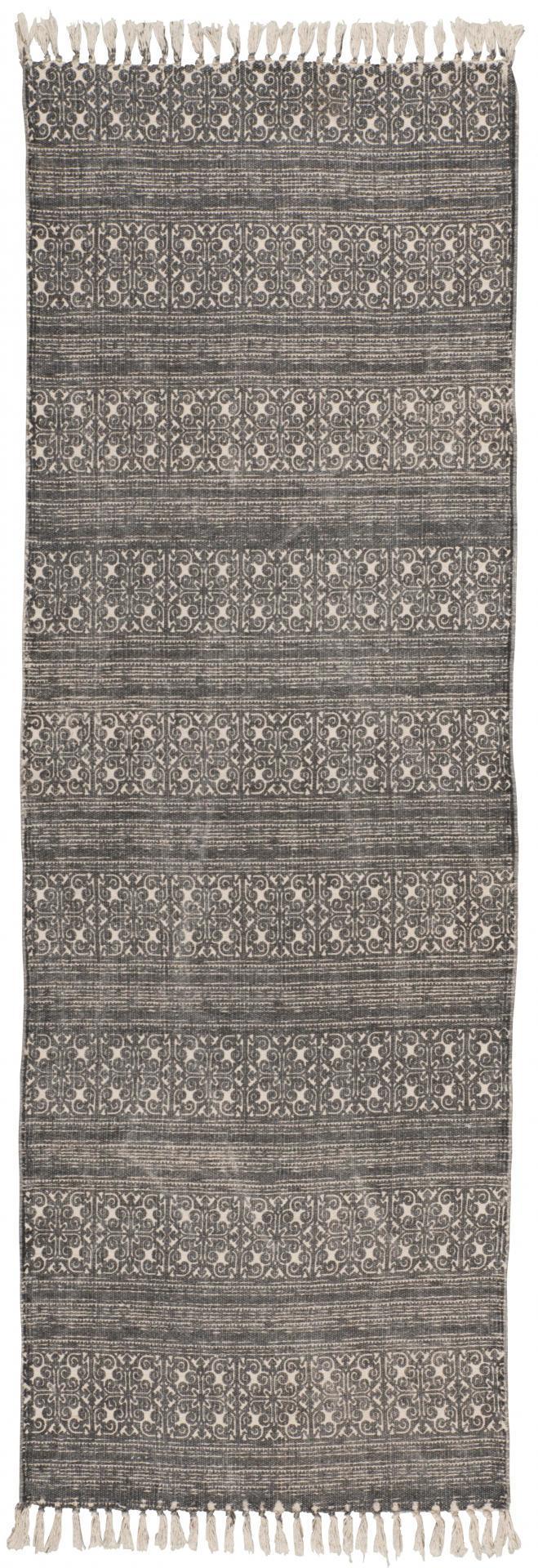 IB LAURSEN Koberec Grey printing 180x60