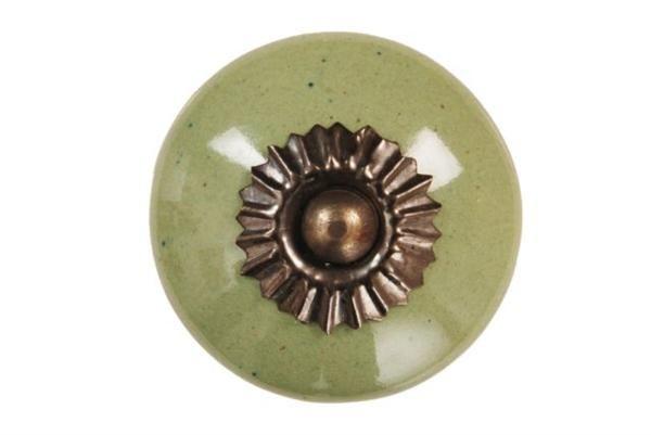 La Finesse Porcelánová úchytka Green