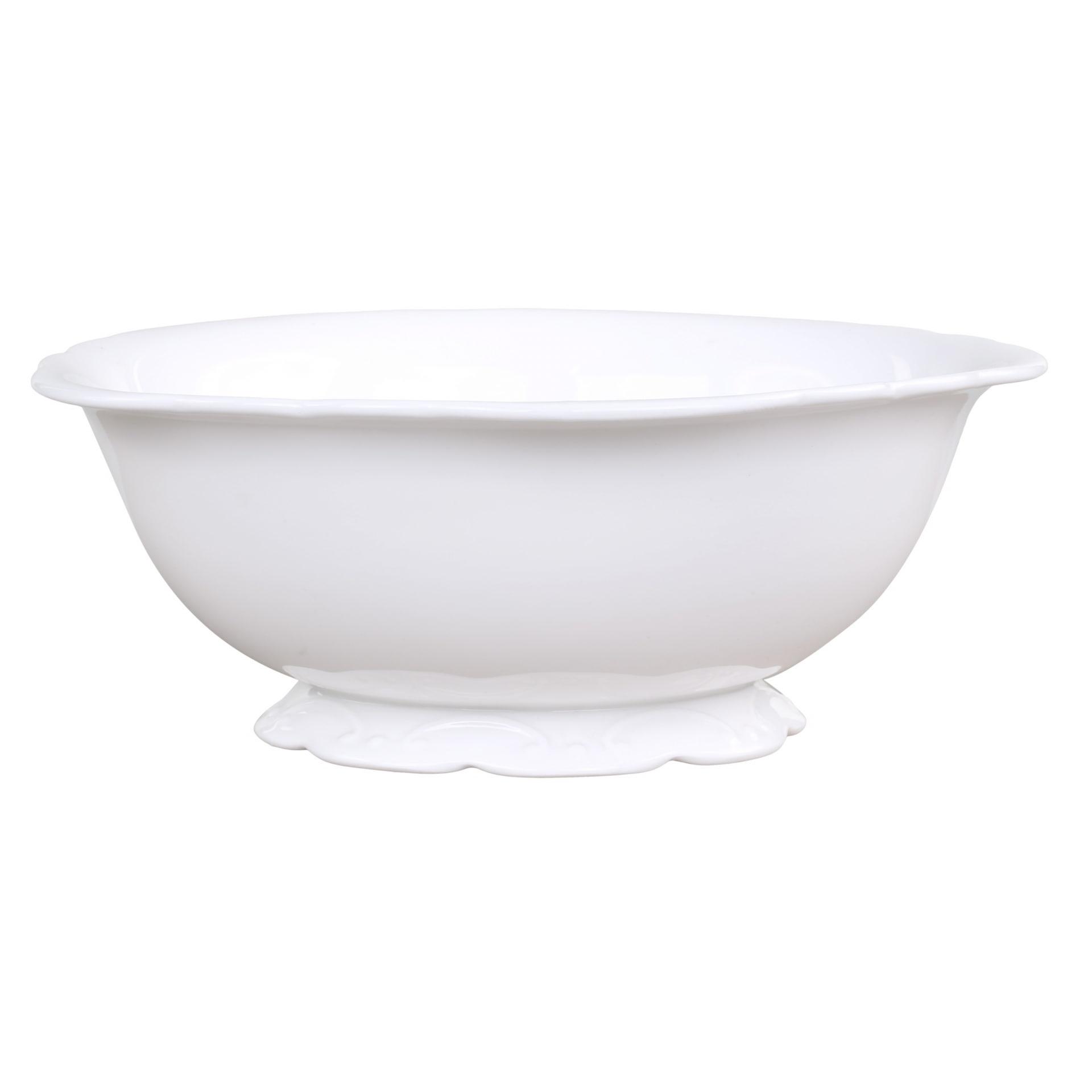 Chic Antique Porcelánová mísa Provence, bílá barva, porcelán