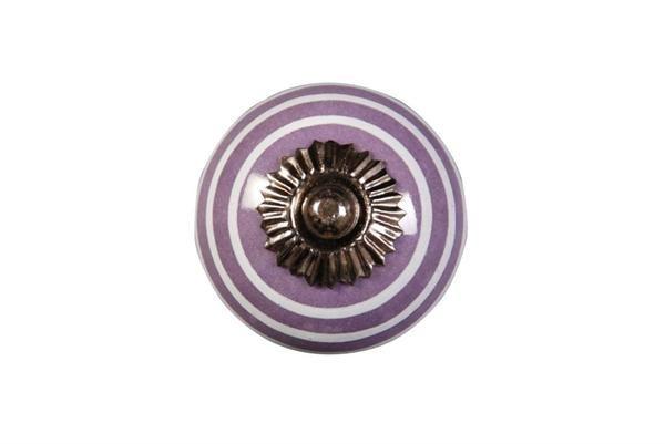 La finesse Porcelánová úchytka Lila/white, fialová barva, porcelán