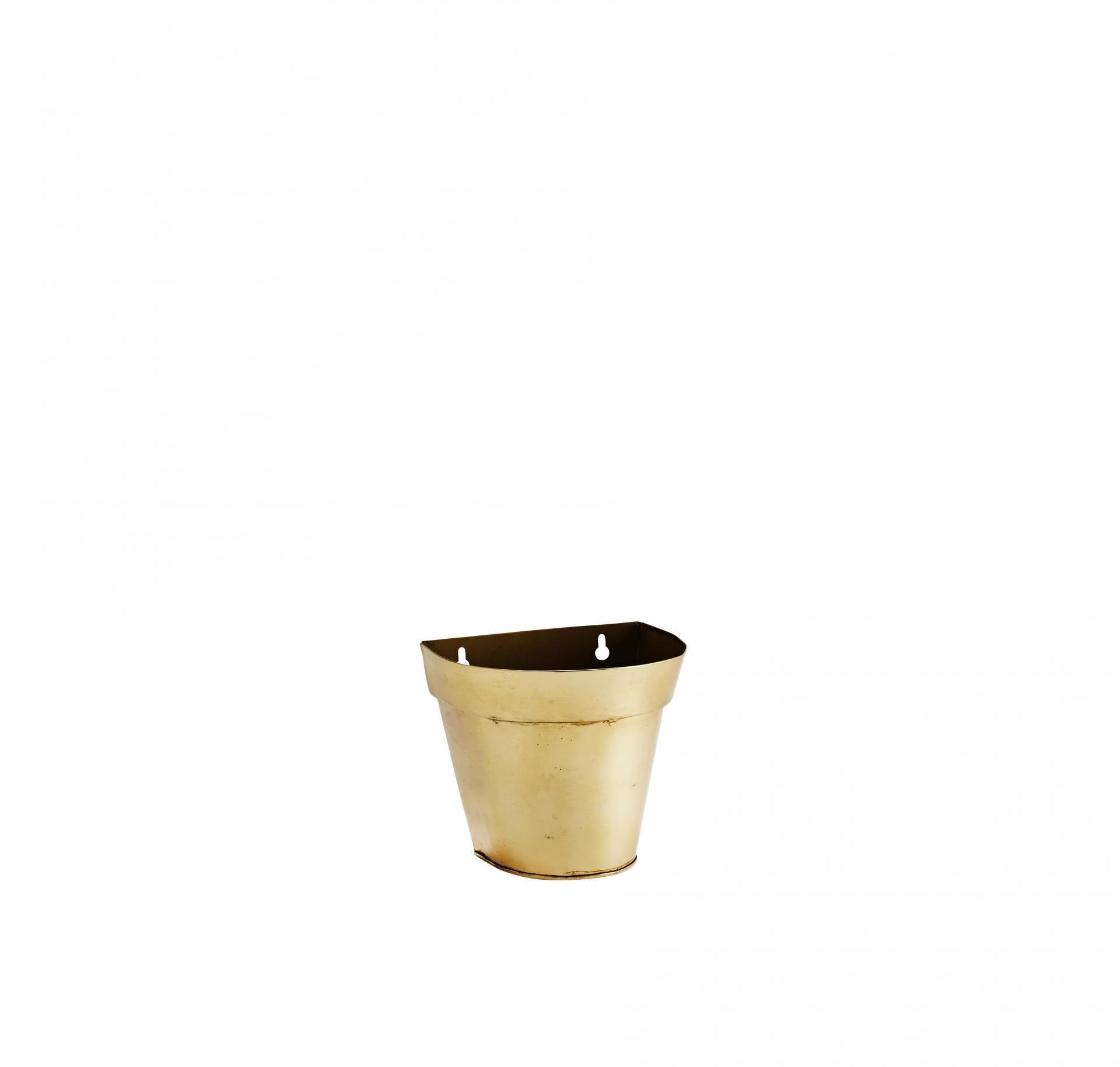 MADAM STOLTZ Nástěnný květináč Wall Shiny Gold, zlatá barva, kov
