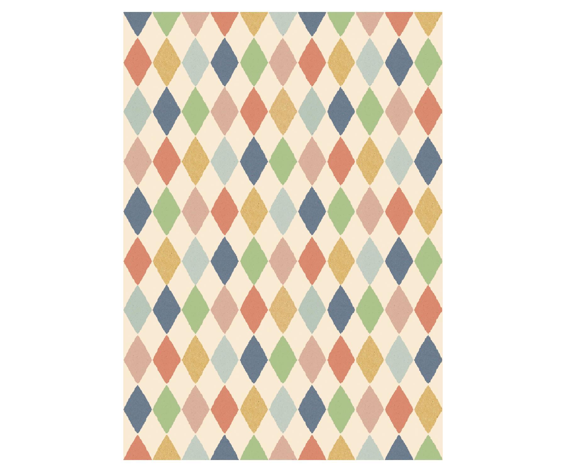 Maileg Dárkový balící papír Harlekin multi, multi barva, papír