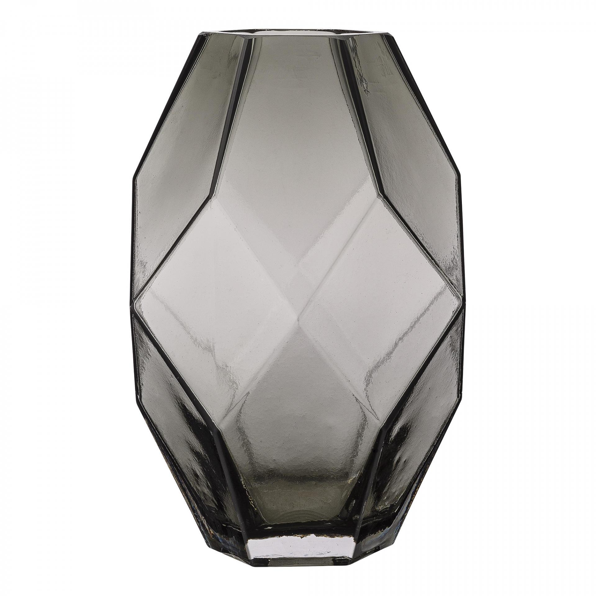 Bloomingville Skleněná váza Geometric Grey