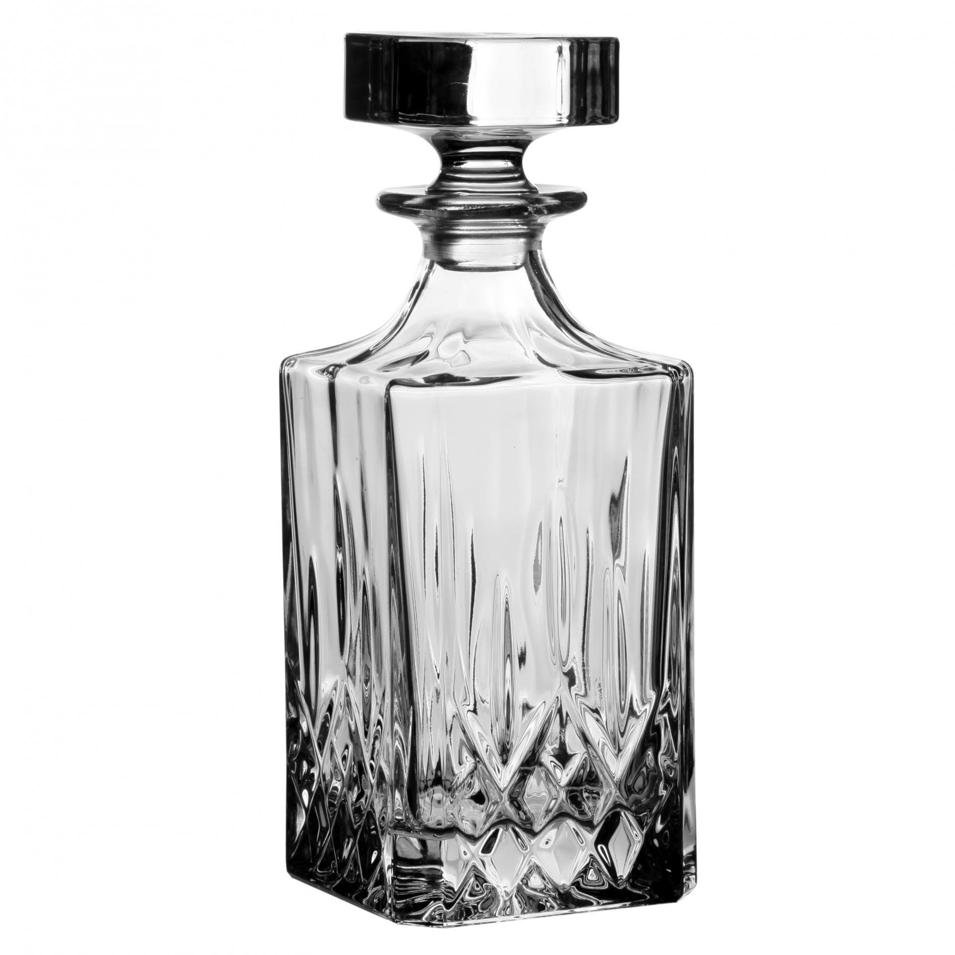 CÔTÉ TABLE Karafa na whisky Melodia 750ml, čirá barva, sklo
