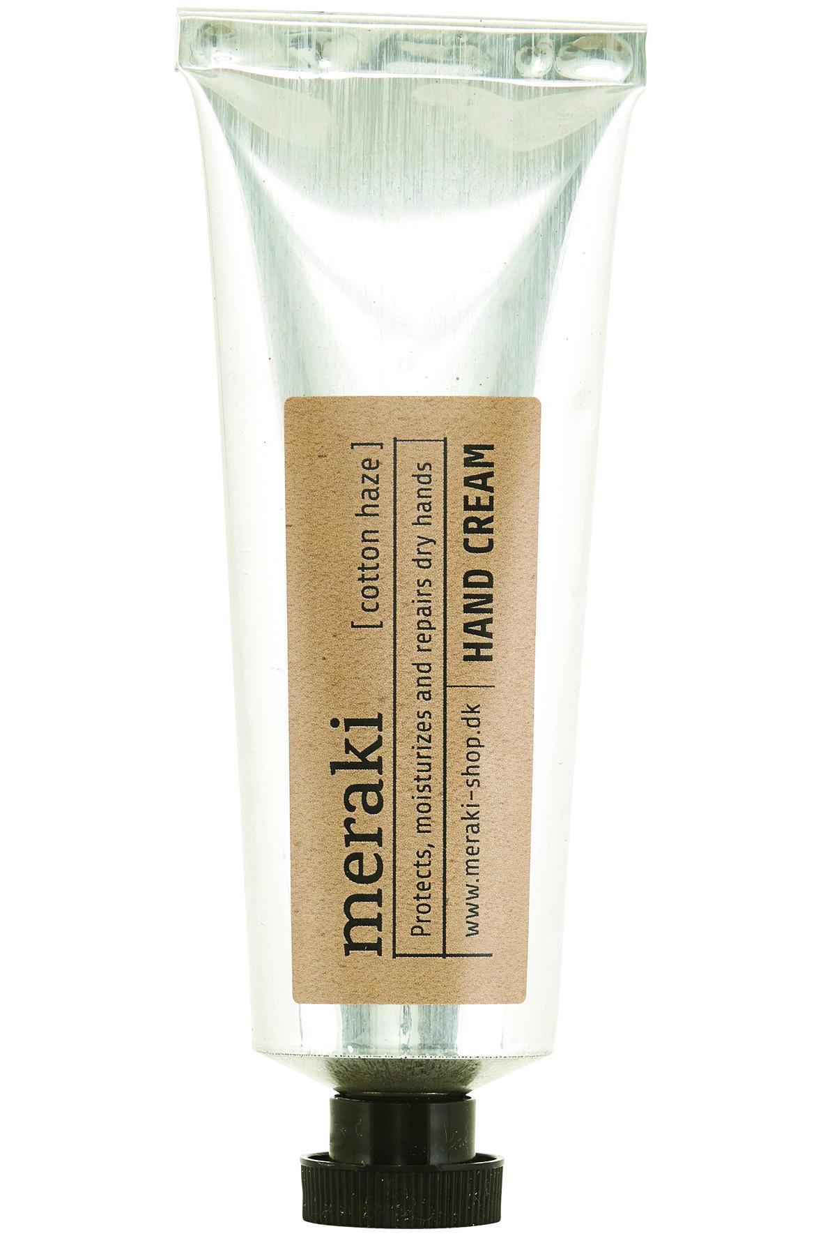 meraki Krém na ruce v kovové tubě Cotton haze 50 ml, stříbrná barva, kov, plast