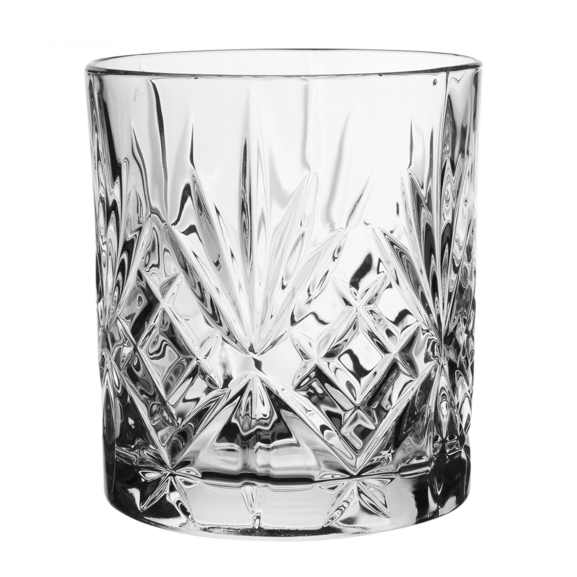 CÔTÉ TABLE Sklenice na whisky Melodia, čirá barva, sklo