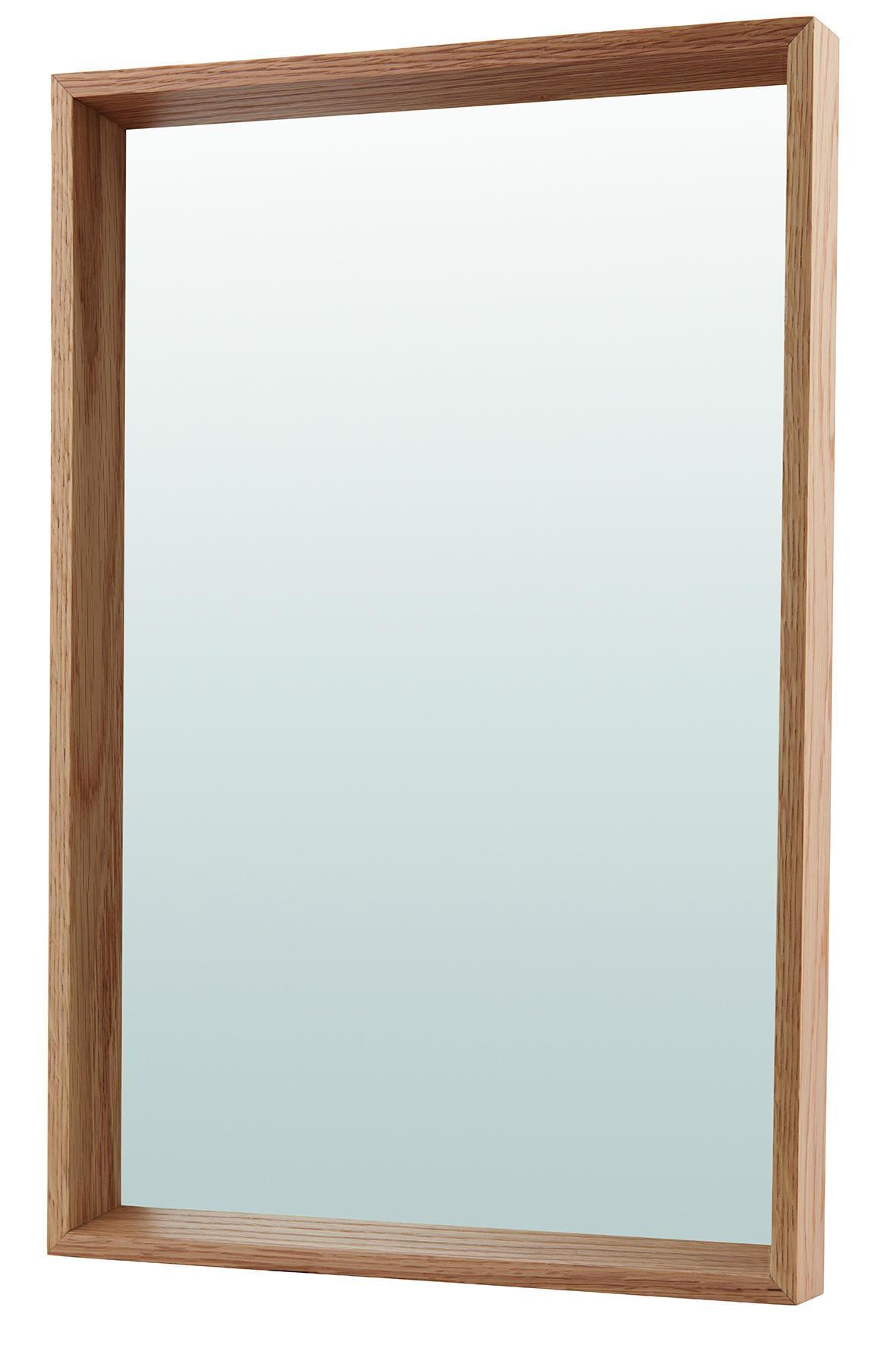 House Doctor Závěsné zrcadlo v dubovém rámu Oak, hnědá barva, sklo, dřevo