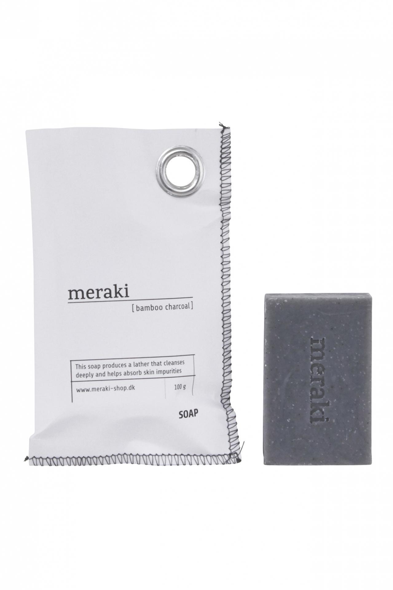 meraki Mýdlo na ruce Bamboo charcoal 100 g, šedá barva