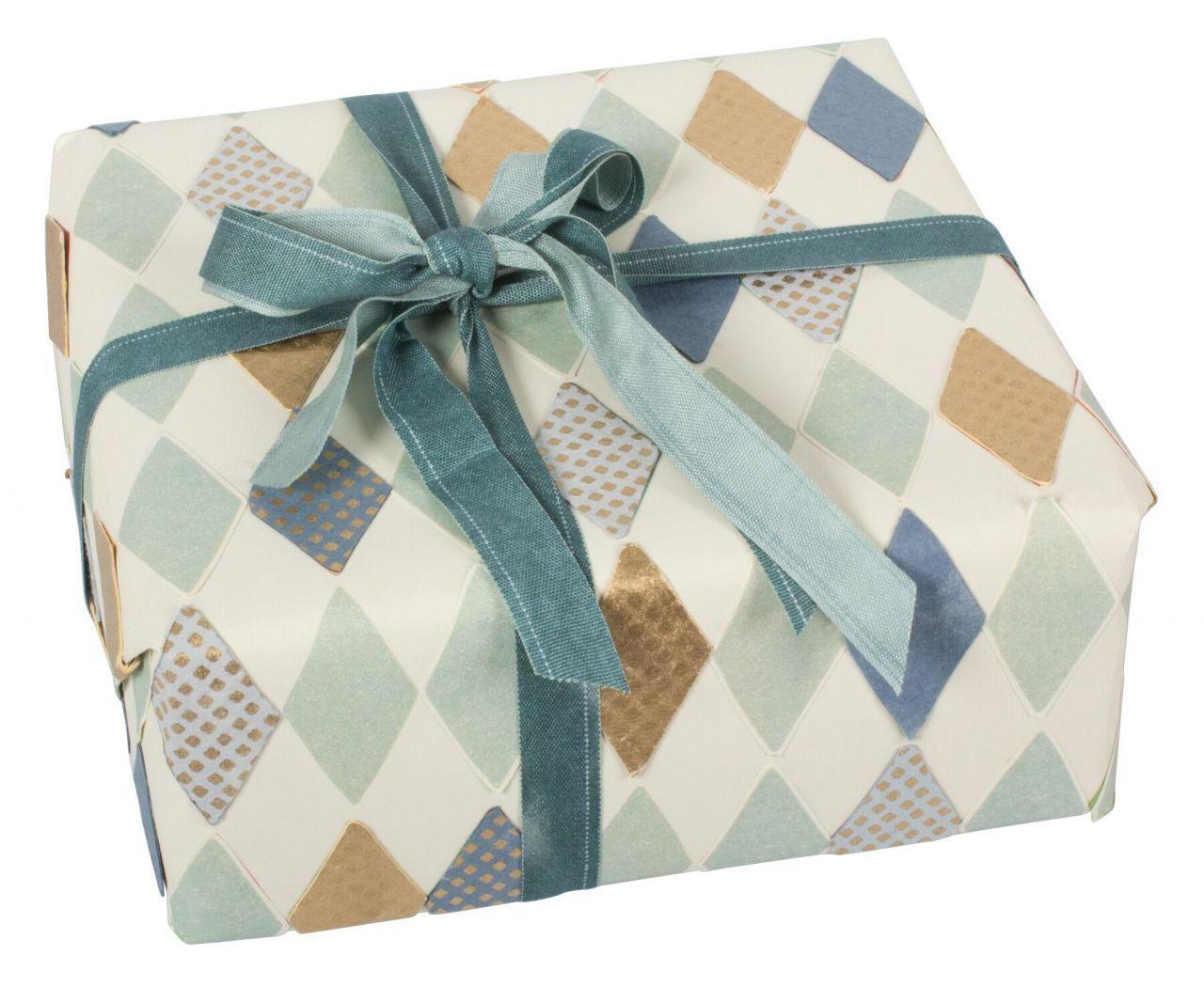 Maileg Dárkový balící papír Harlekin blue 70 cm